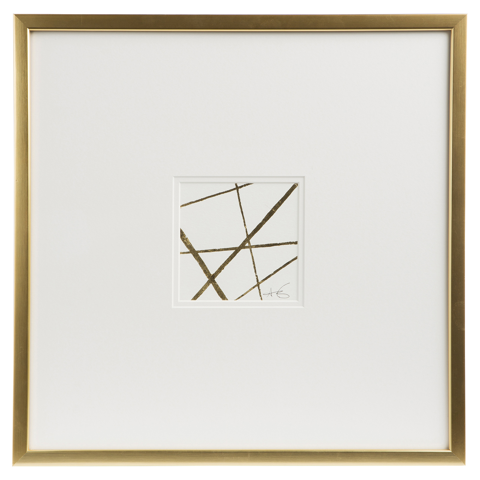 Cleo Modern Classic Gold Frame Embossed Wall Décor I