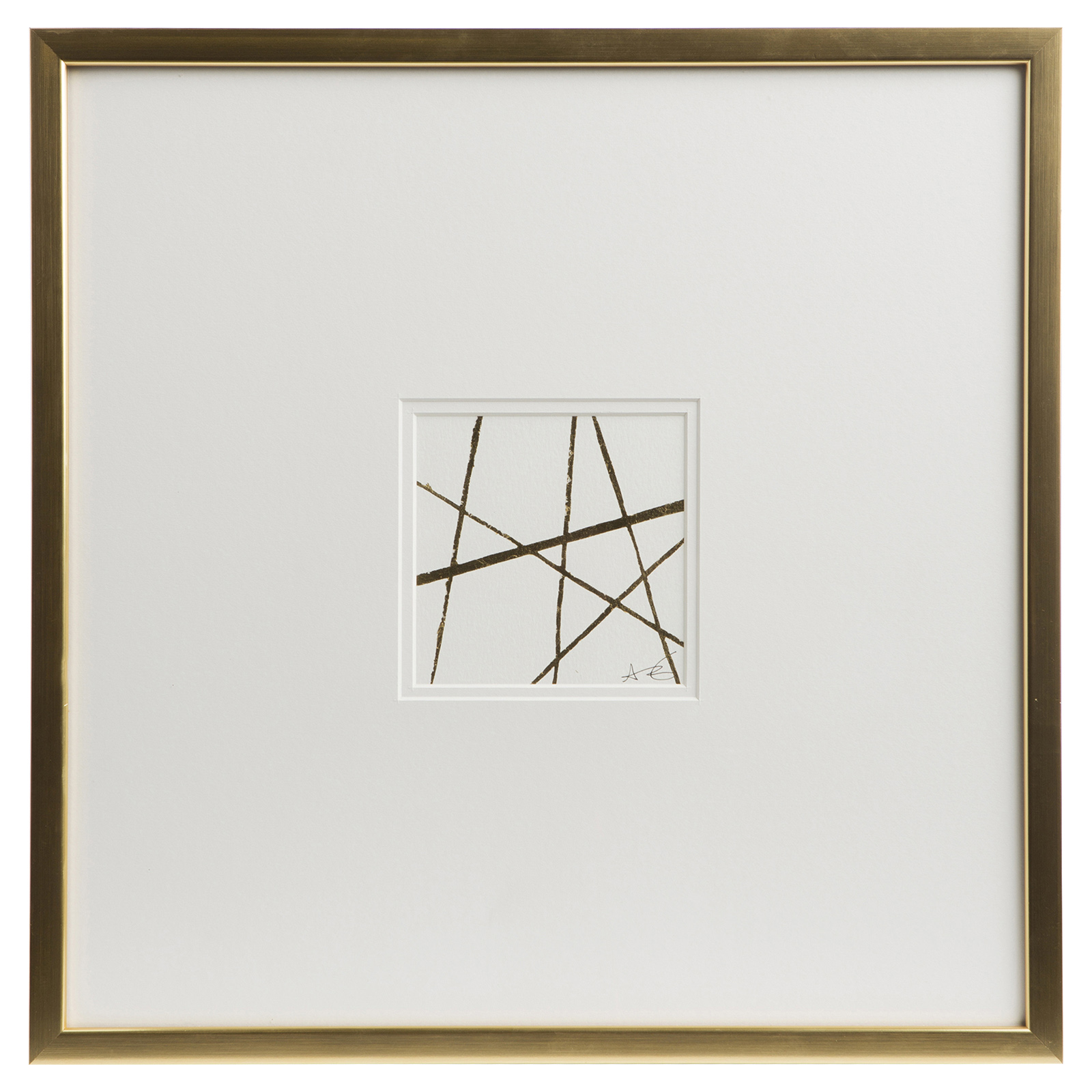Cleo Modern Classic Gold Frame Embossed Wall Décor II