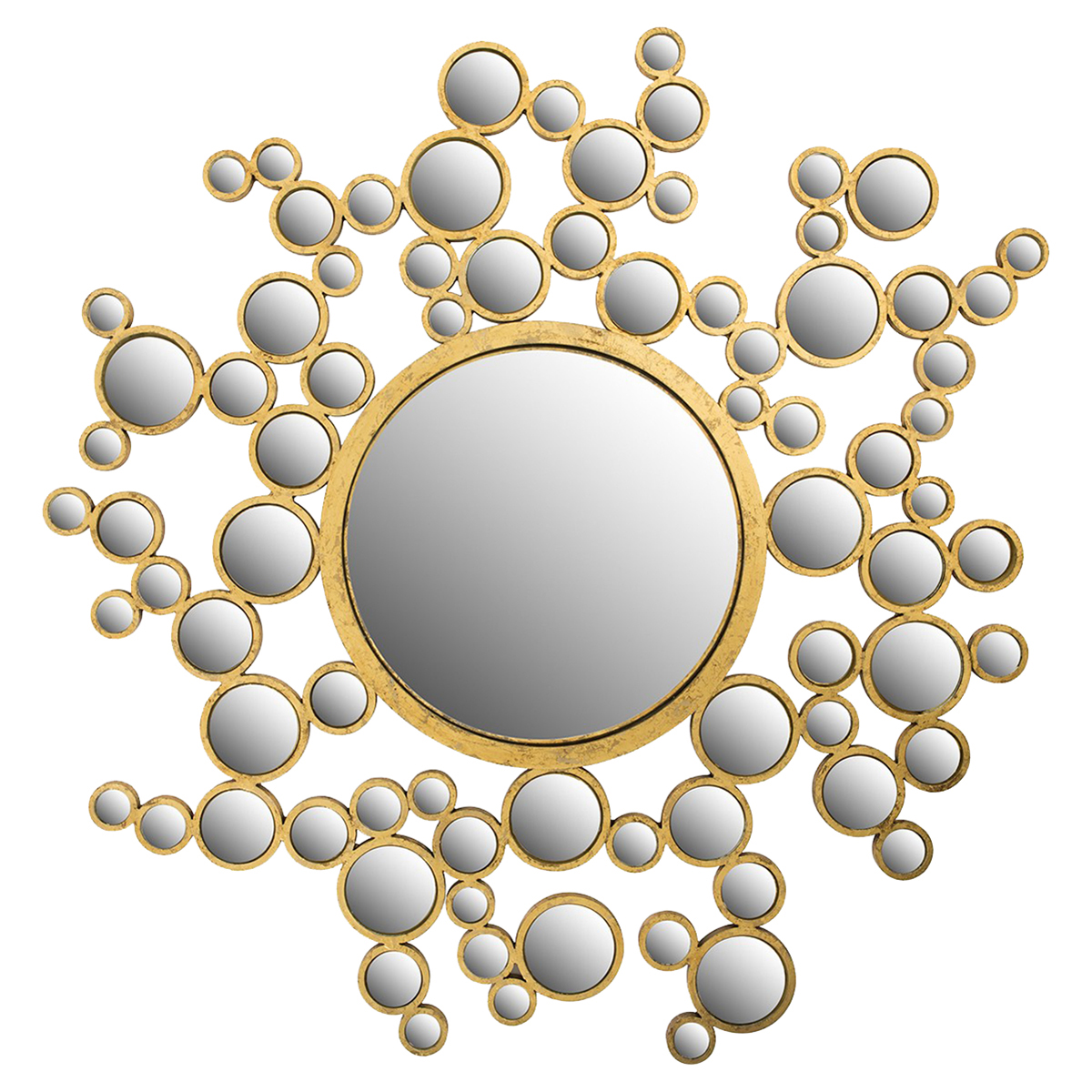 Cordelia Modern Classic Spherical Patterned Gold Mirror