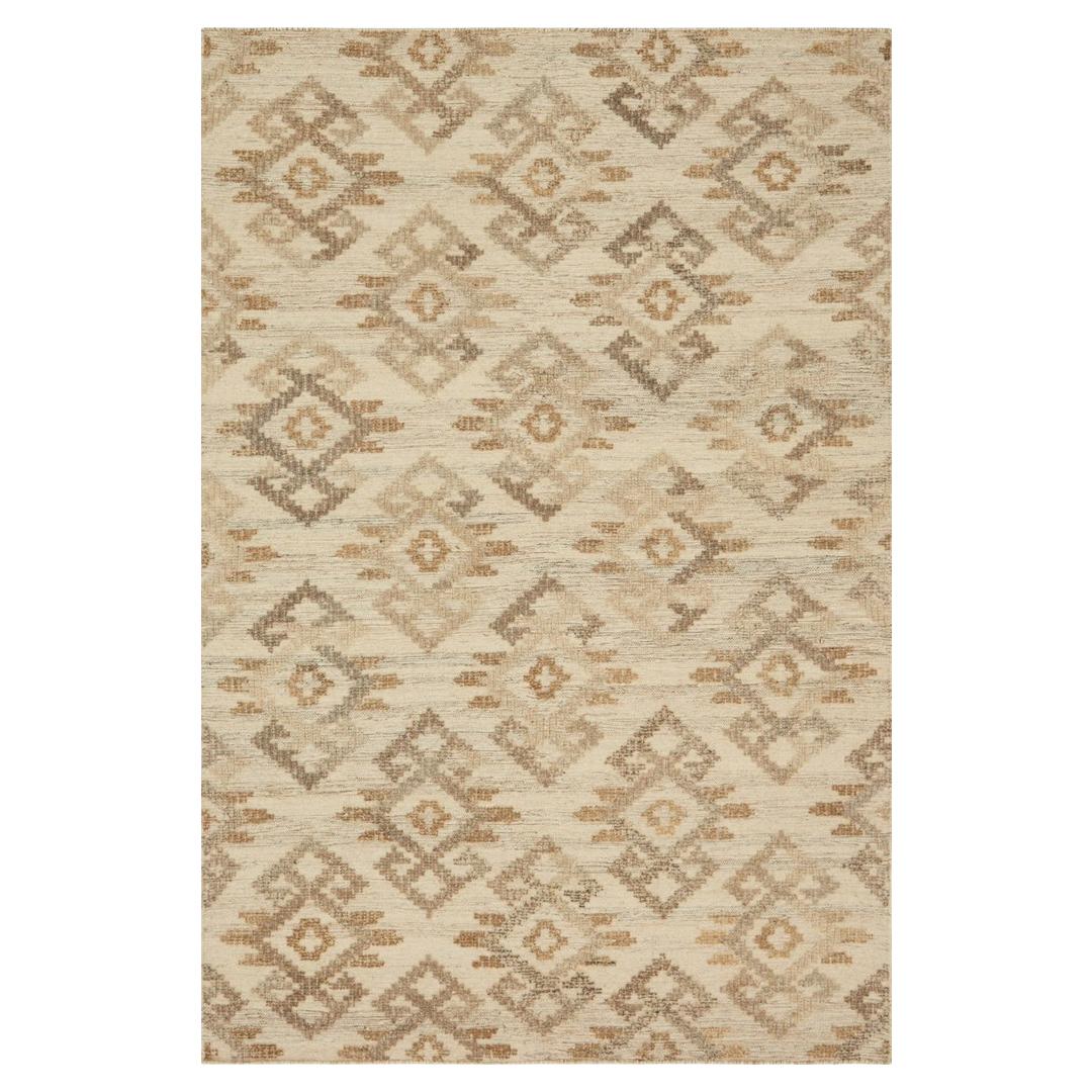 Akeelah Bazaar Beige Southwest Wool Rug - 5x7'6