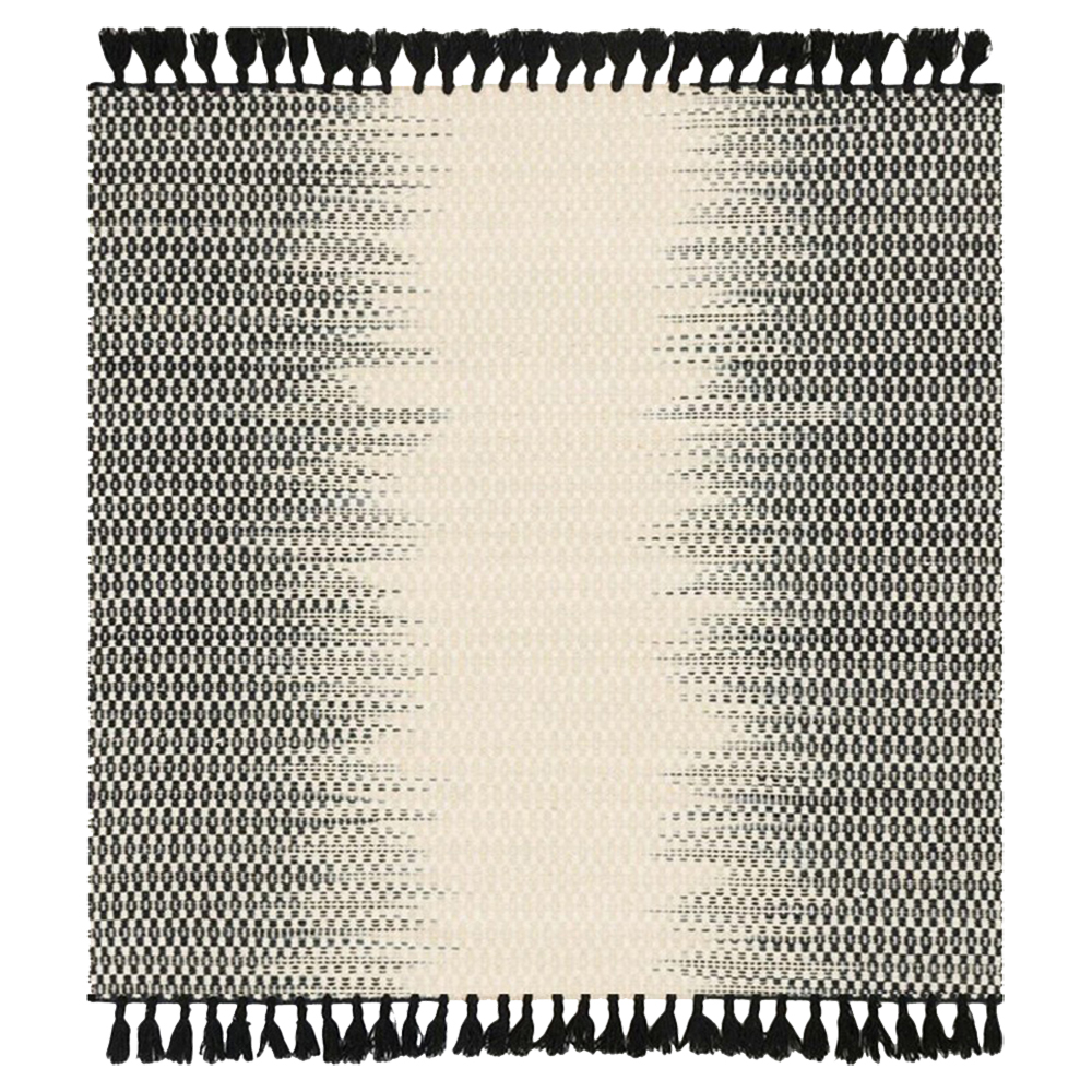 Tilly Global Black Ombre Woven Wool Rug - Sample