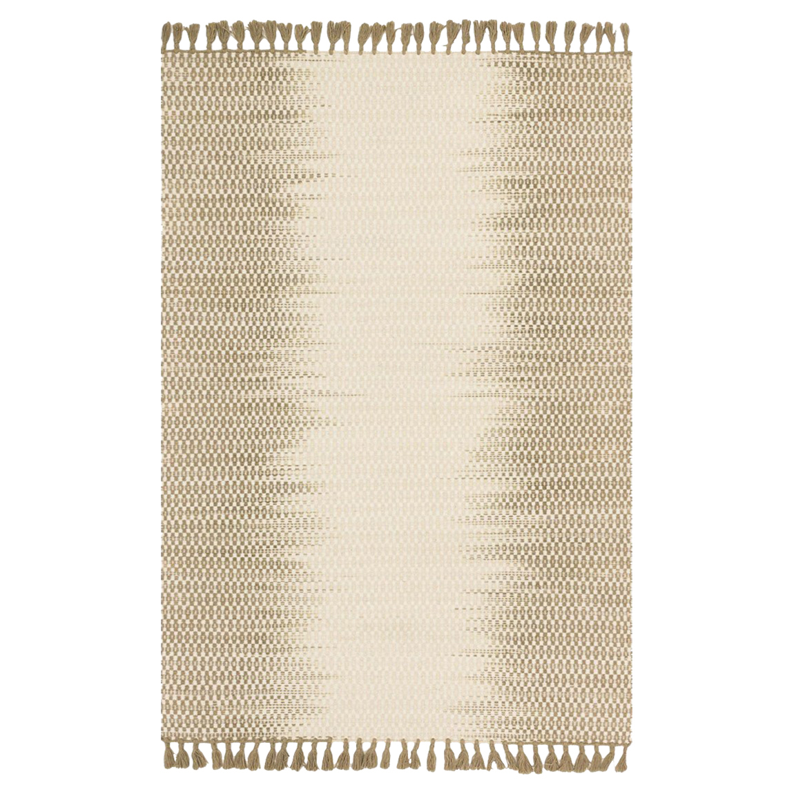 Tilly Global Olive Ombre Woven Wool Rug - 2'3x3'9