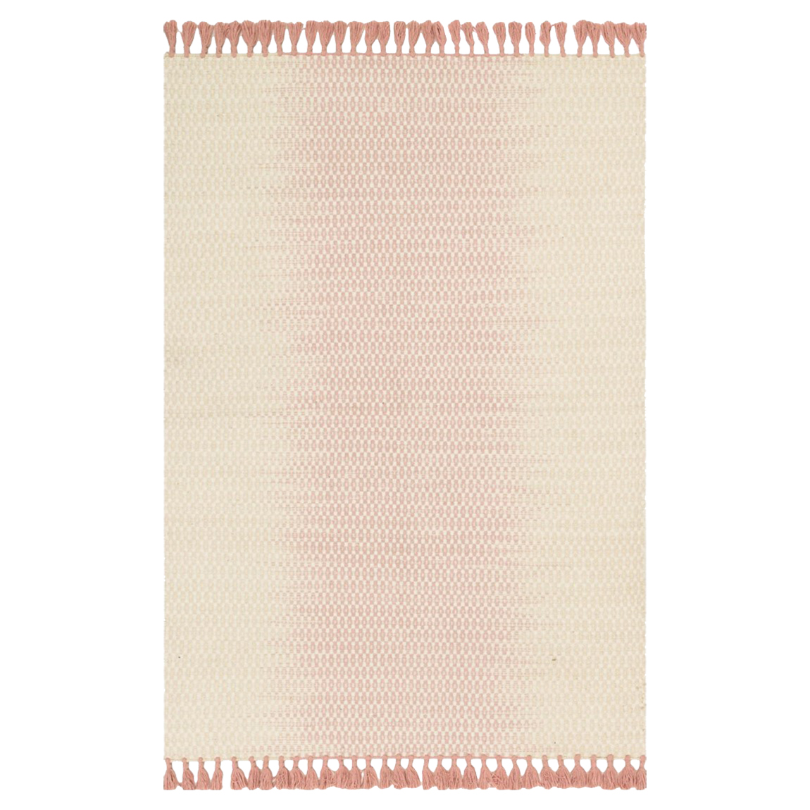 Tilly Global Rose Pink Ombre Woven Wool Rug - 7'9x9'9