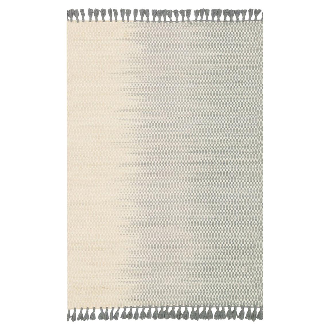 Ombre Bazaar Fade Ivory Grey Wool Rug - 9'3x13