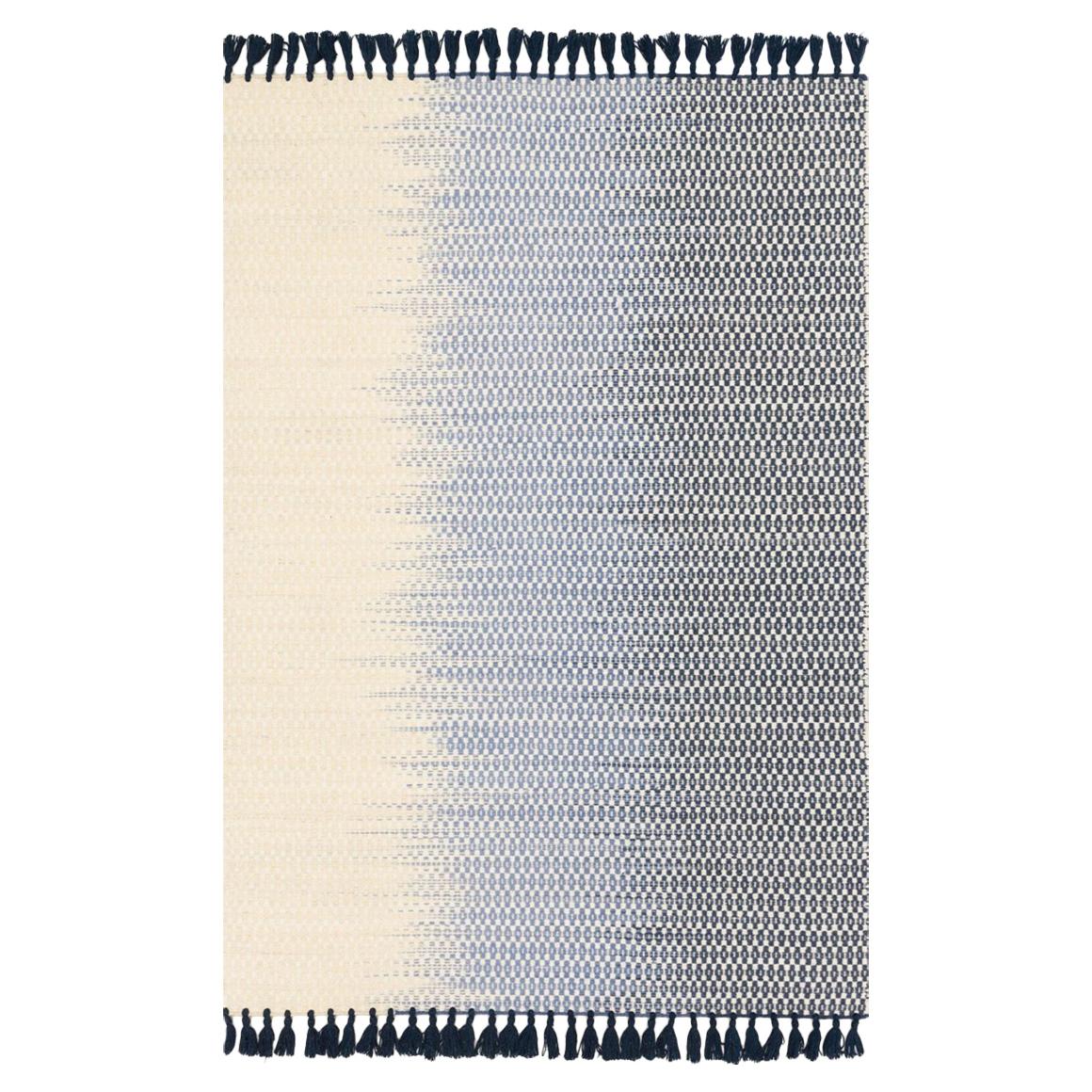 Ombre Bazaar Fade Navy Blue Wool Rug - 9'3x13