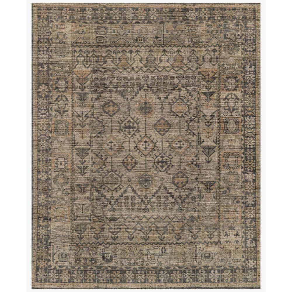 Ismael Global Grey Vintage Tribal Wool Rug - 6x9