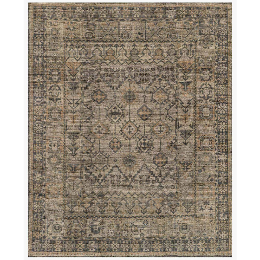 Ismael Global Grey Vintage Tribal Wool Rug - 10x14