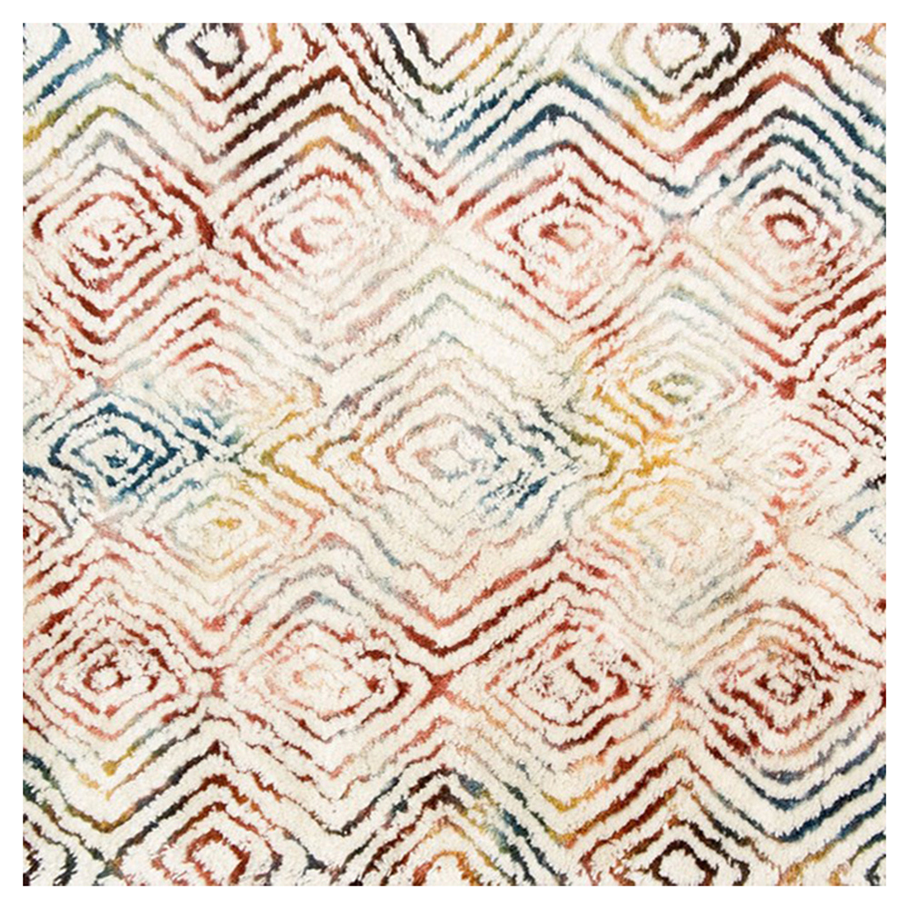 Cella Bohemian Rainbow Ivory Diamond Rug - Sample