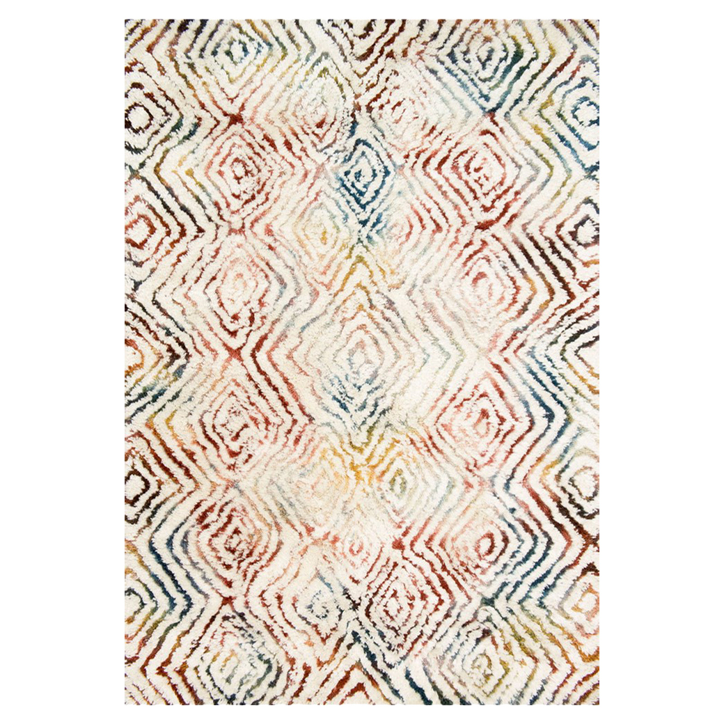 Cella Bohemian Rainbow Ivory Diamond Rug - 7'9x9'9