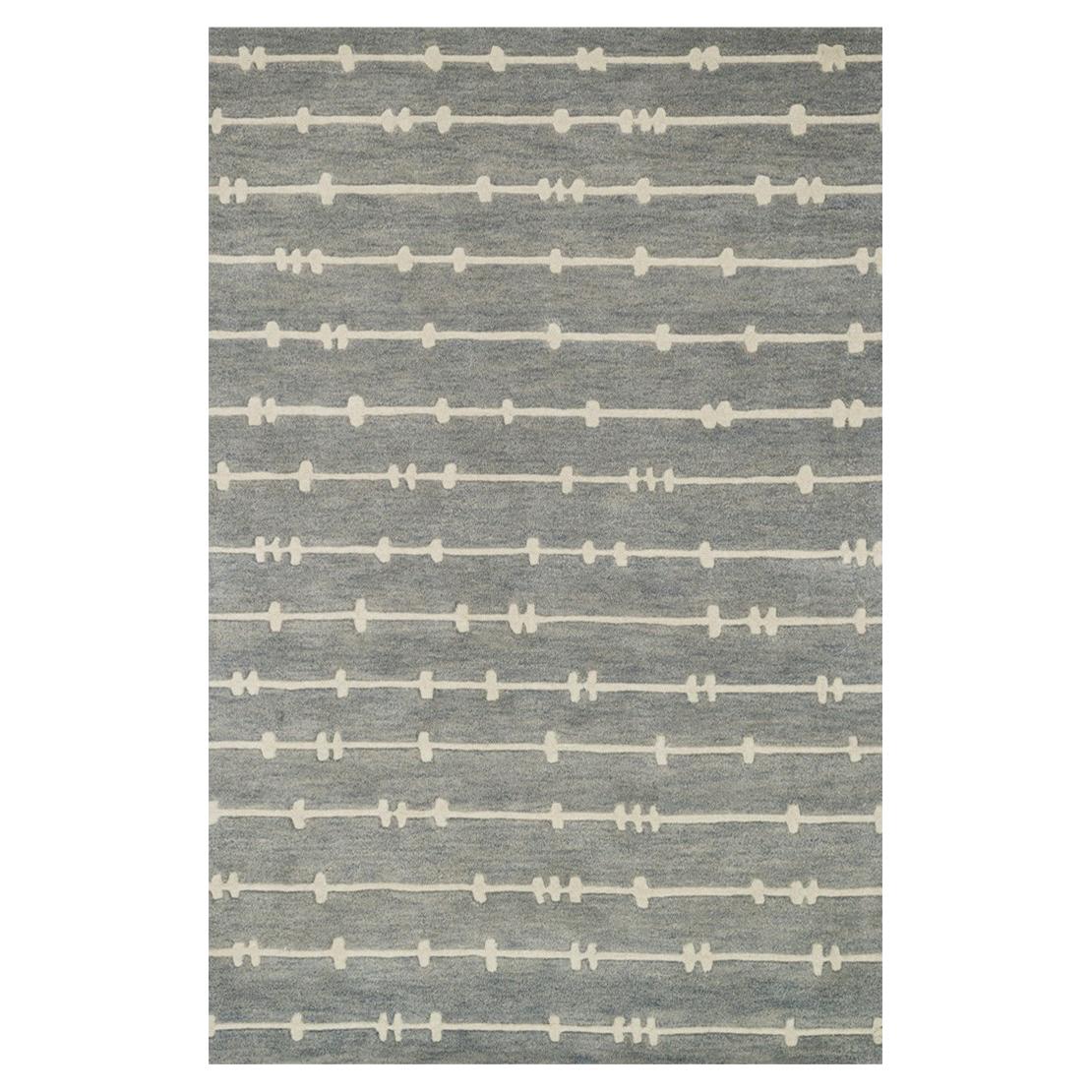 Mondo Modern Grey Ivory Wire Wool Rug - 7'10x11