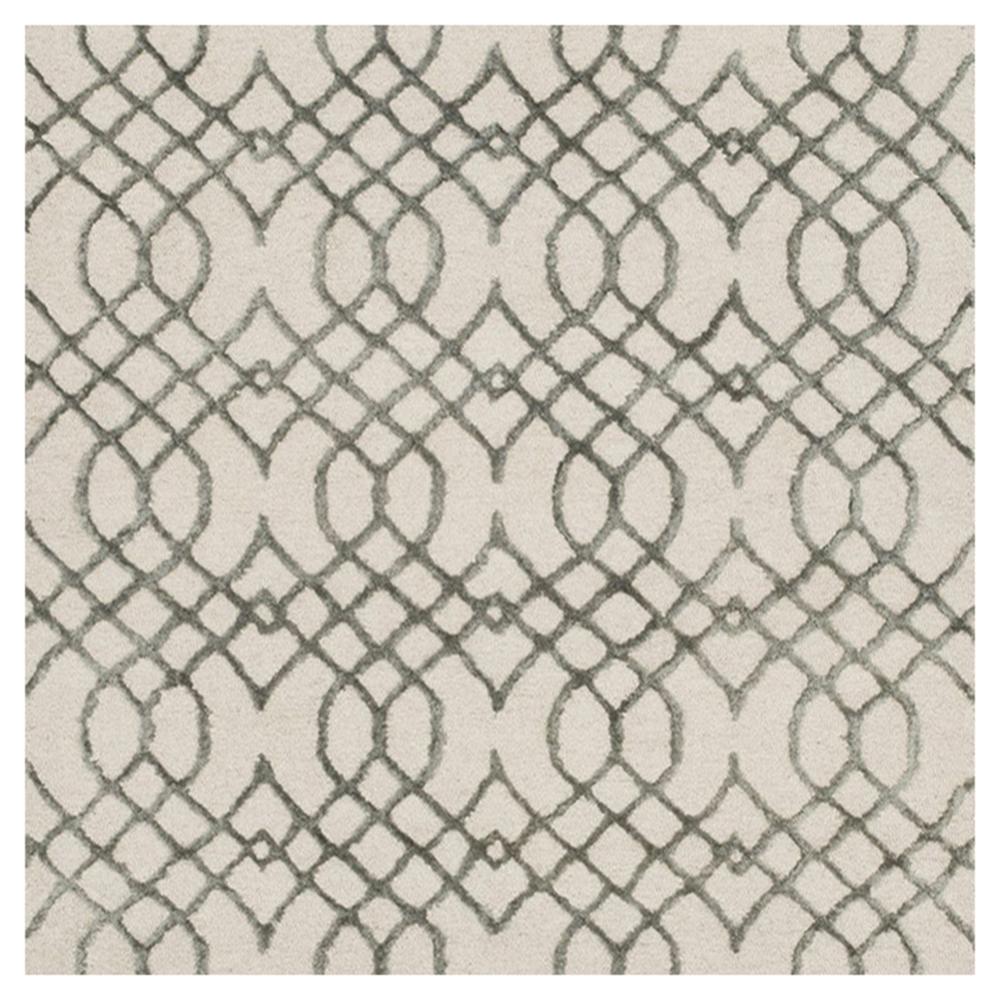 Tasha Regency Grey Trellis Ivory Rug - Sample