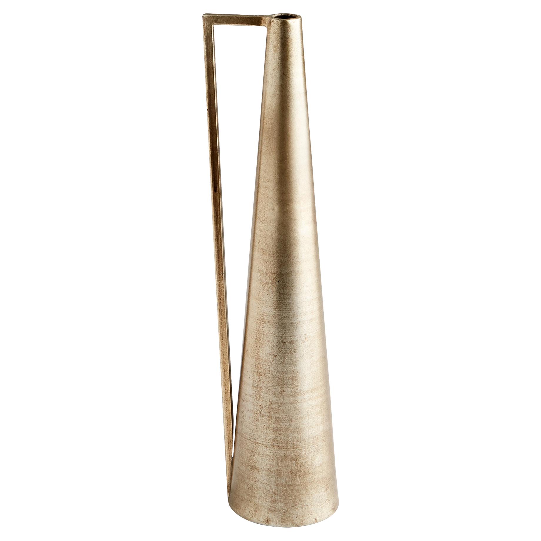 Marty Modern Skinny Bronze Vase