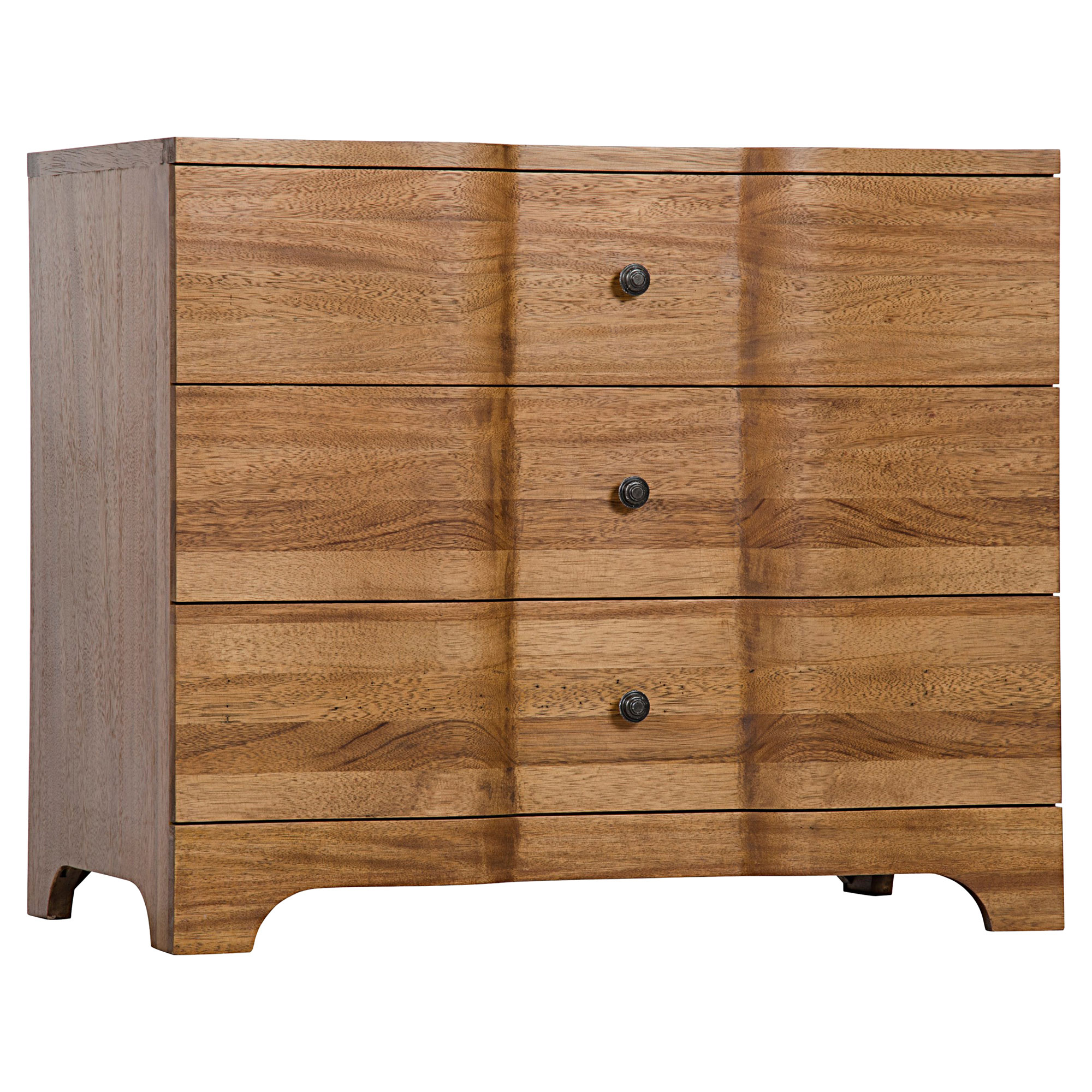 Marlette Rustic Lodge Burnished Amber Walnut 3-Drawer Dresser