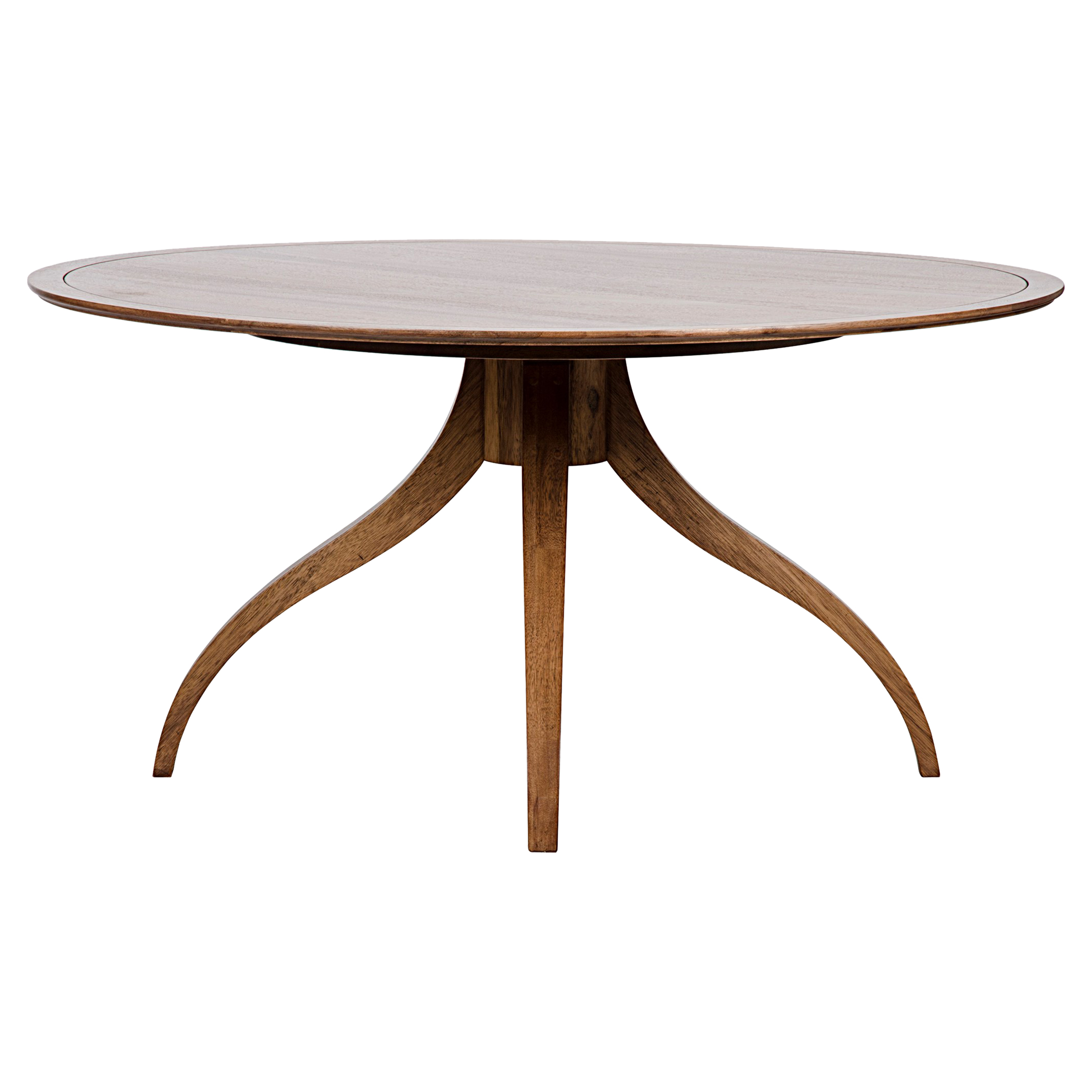Brantley Modern Classic Dark Brown Walnut Round Dining Table