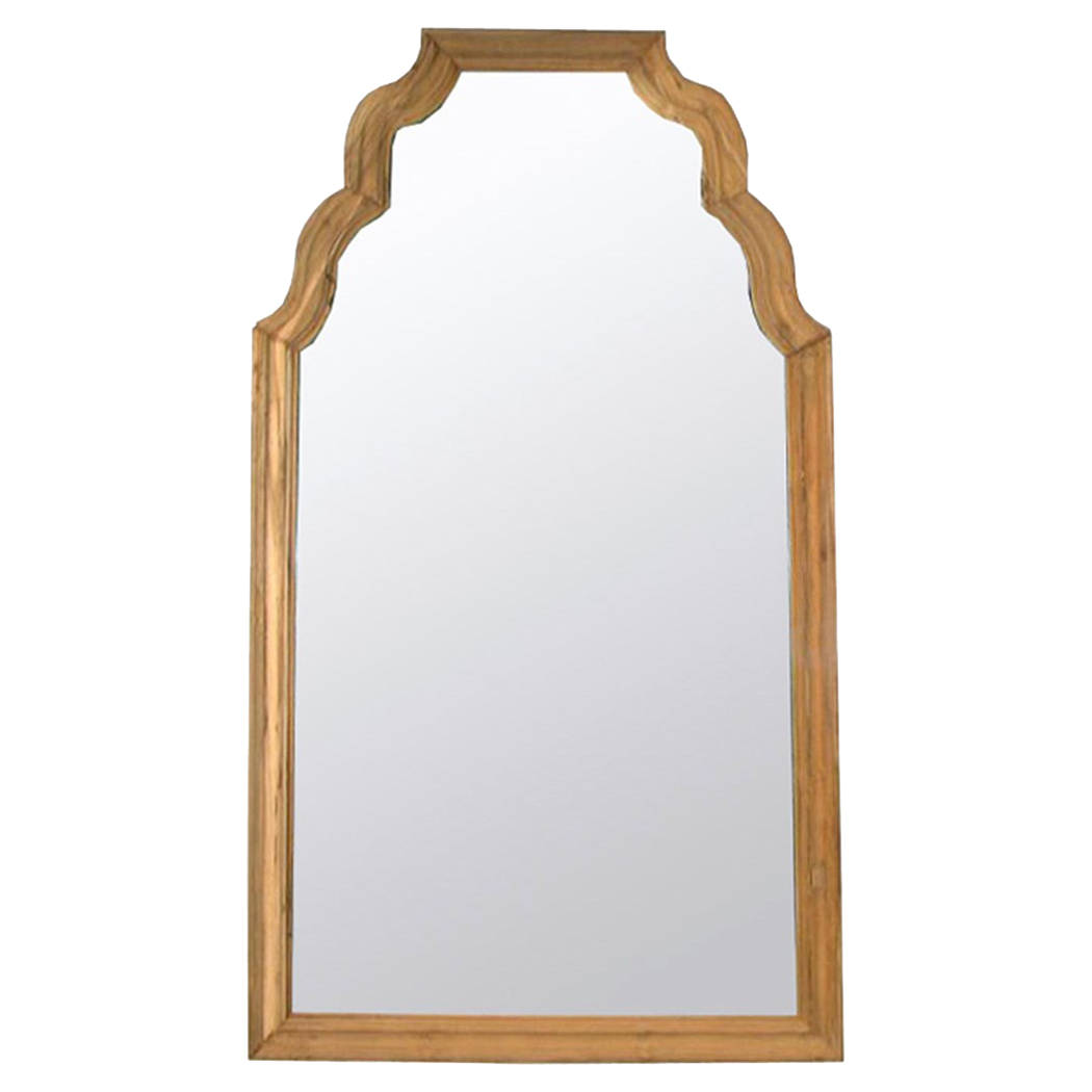 Mariann Modern Classic Honey Brown Reclaimed Teak Floor Mirror