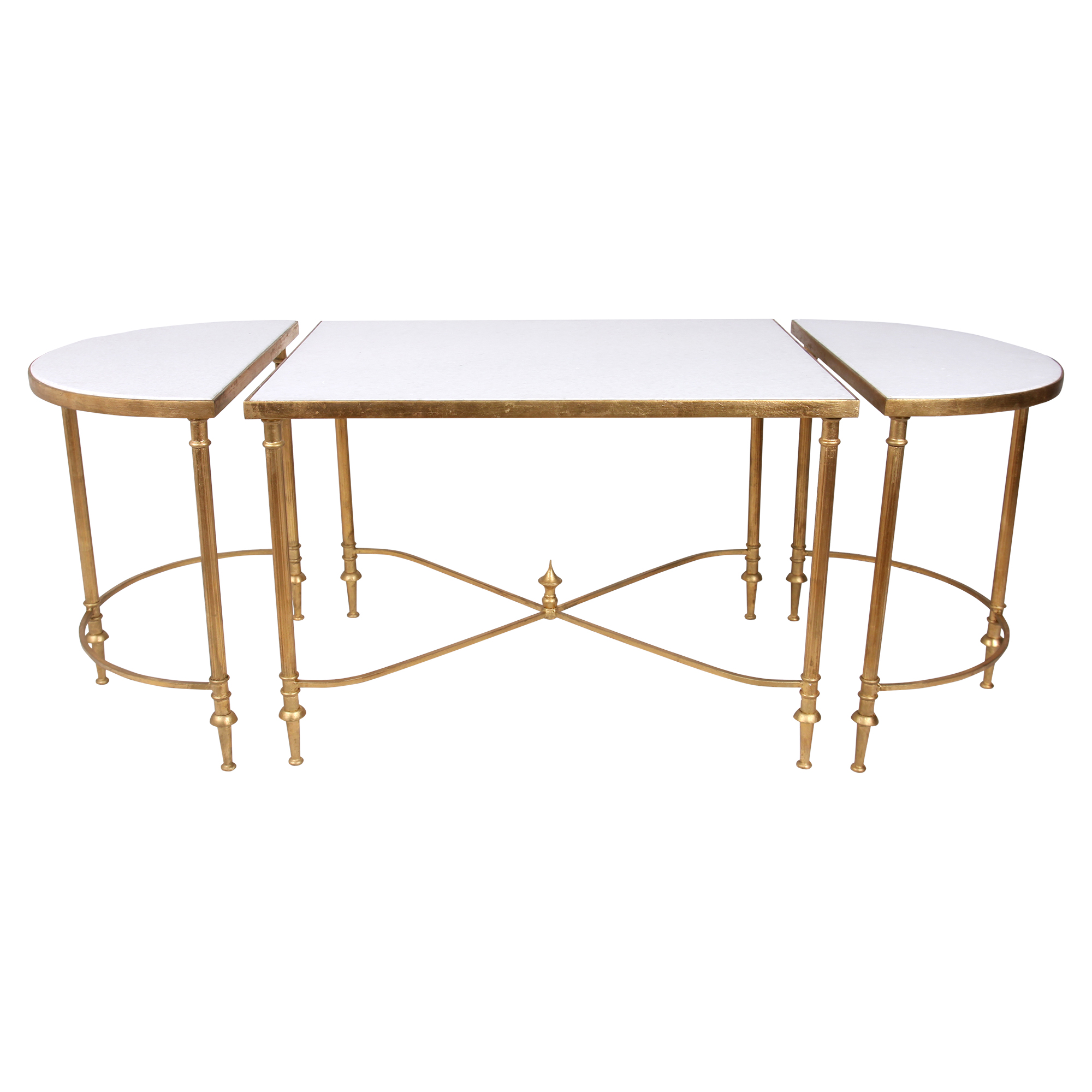 Layne Hollywood Gold Regency Marble Coffee Table