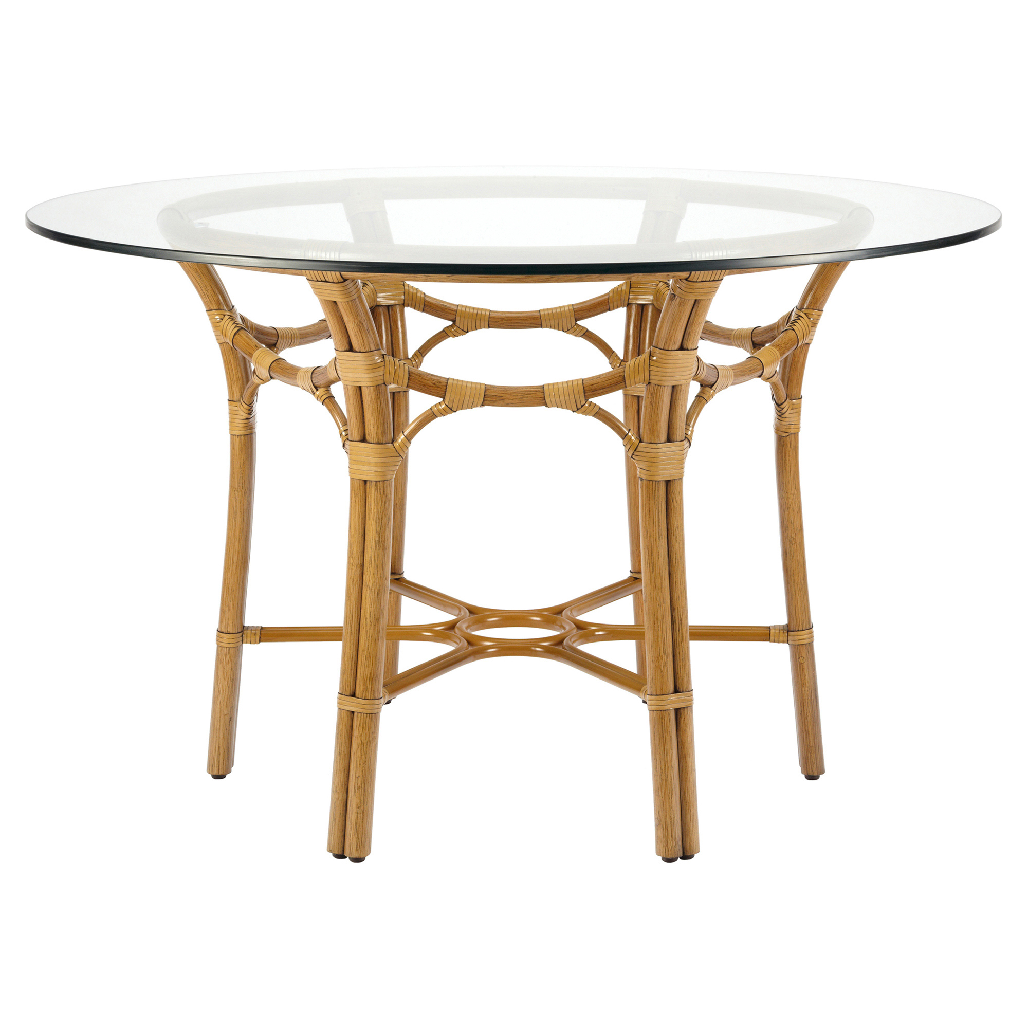 Arietta Global Bazaar Gothic Rattan Dining Table - Tan