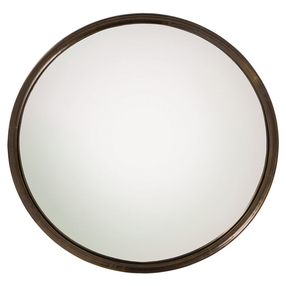 Innogen Classic Round Antique Brass Angled Mirror