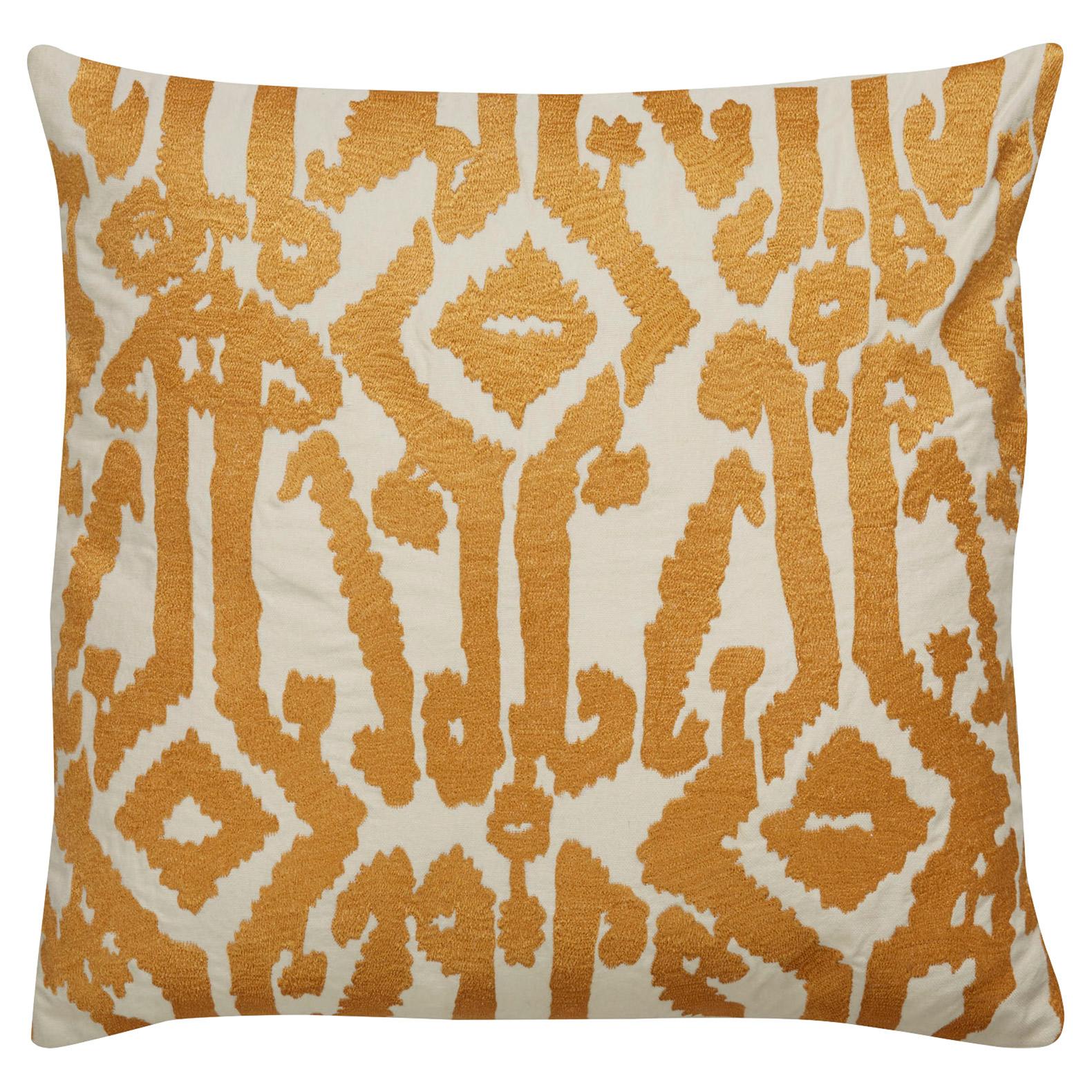 Azalea Global Artisan Embroidered Gold Pillow - 18x18