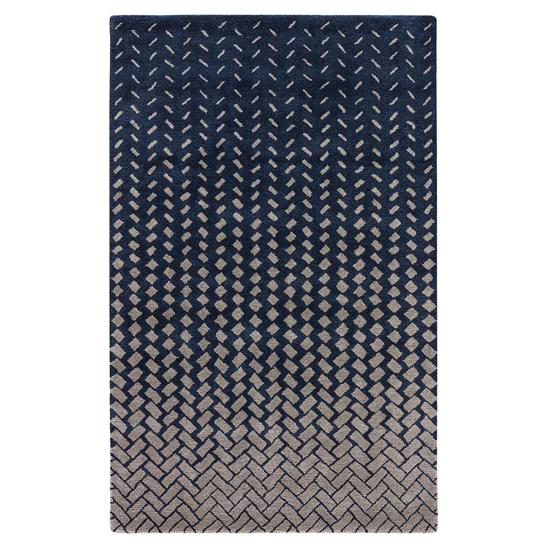Wisco Modern Tile Wash Navy Wool Rug - 2x3