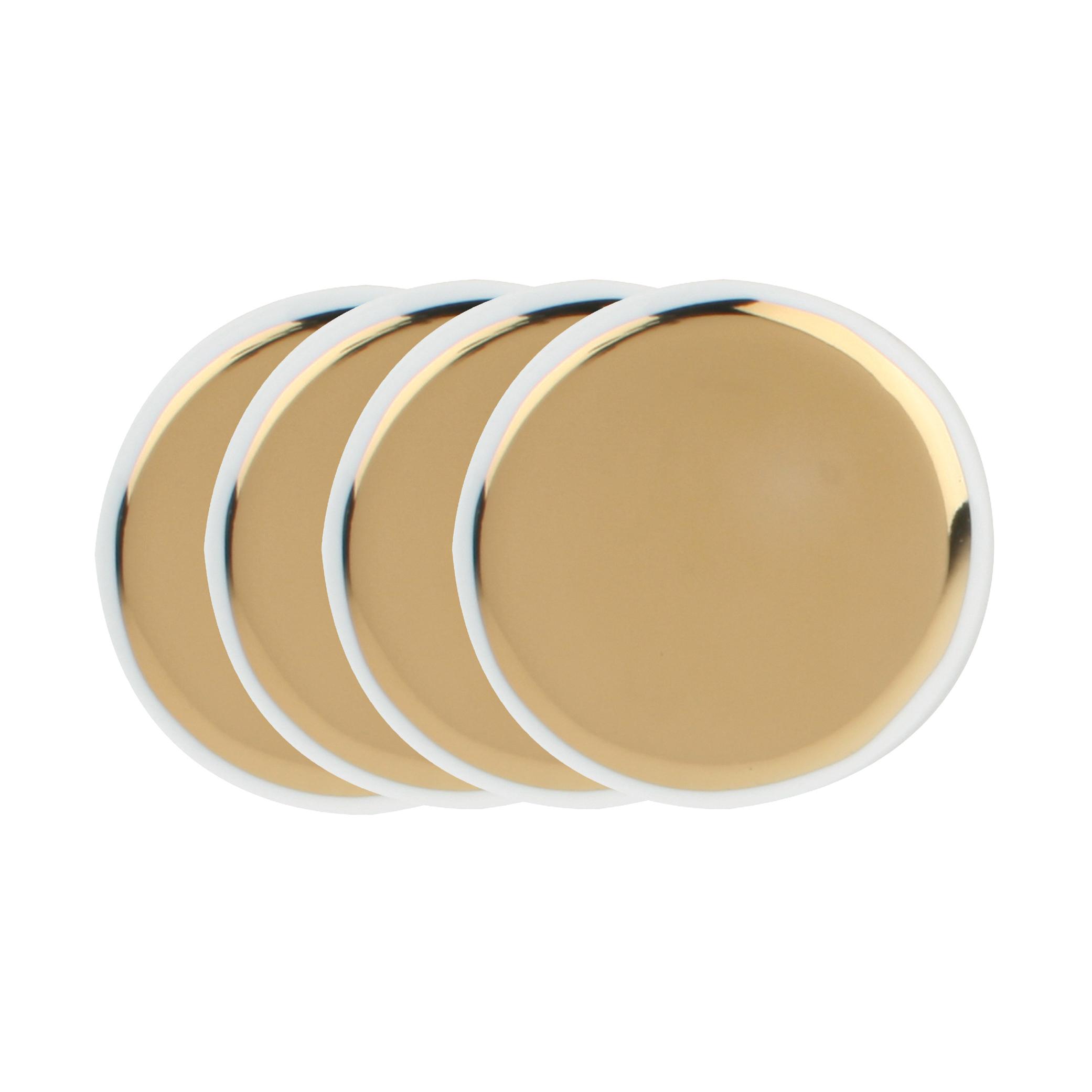 Dauville Regency Gold Ceramic Coasters - Set of 4