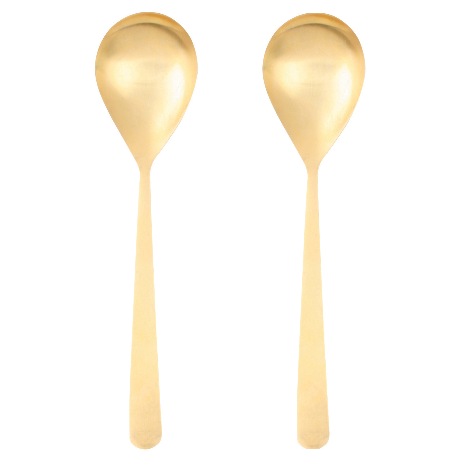 Oslo Matte Gold Serving Spoons - Pair
