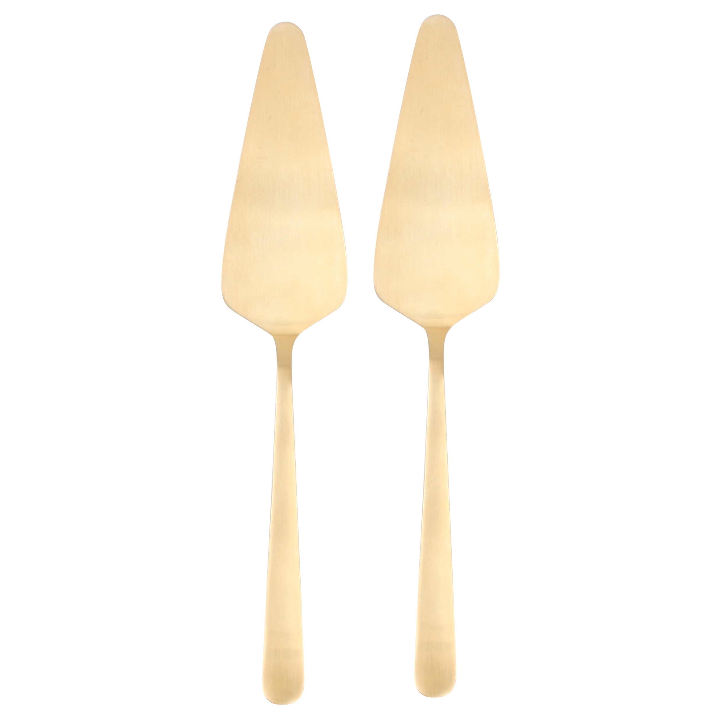 Oslo Matte Gold Cake Server - Pair