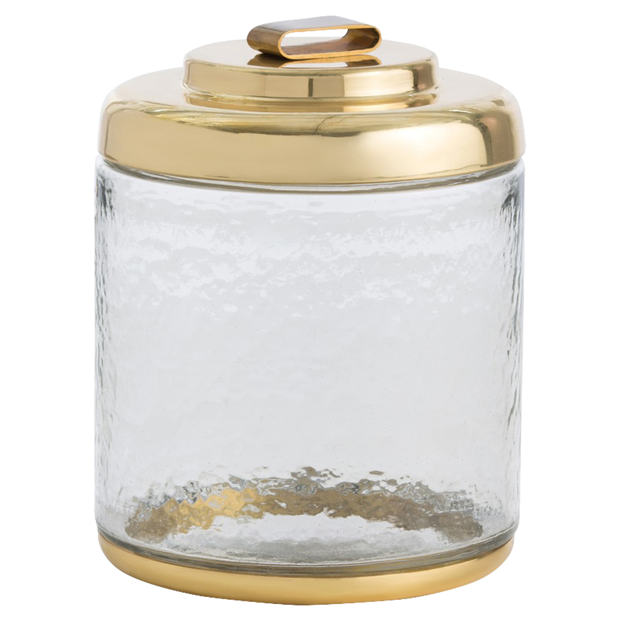 Danica Classic Hammered Glass Brass Lid Ice Bucket