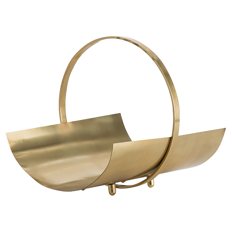 Piven Modern Classic Rounded Brass Magazine Holder