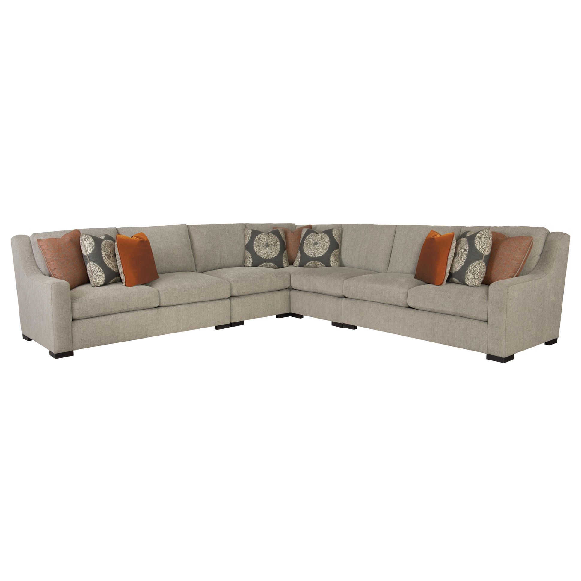 Denis Modern Classic Tweed Grey Sectional Sofa