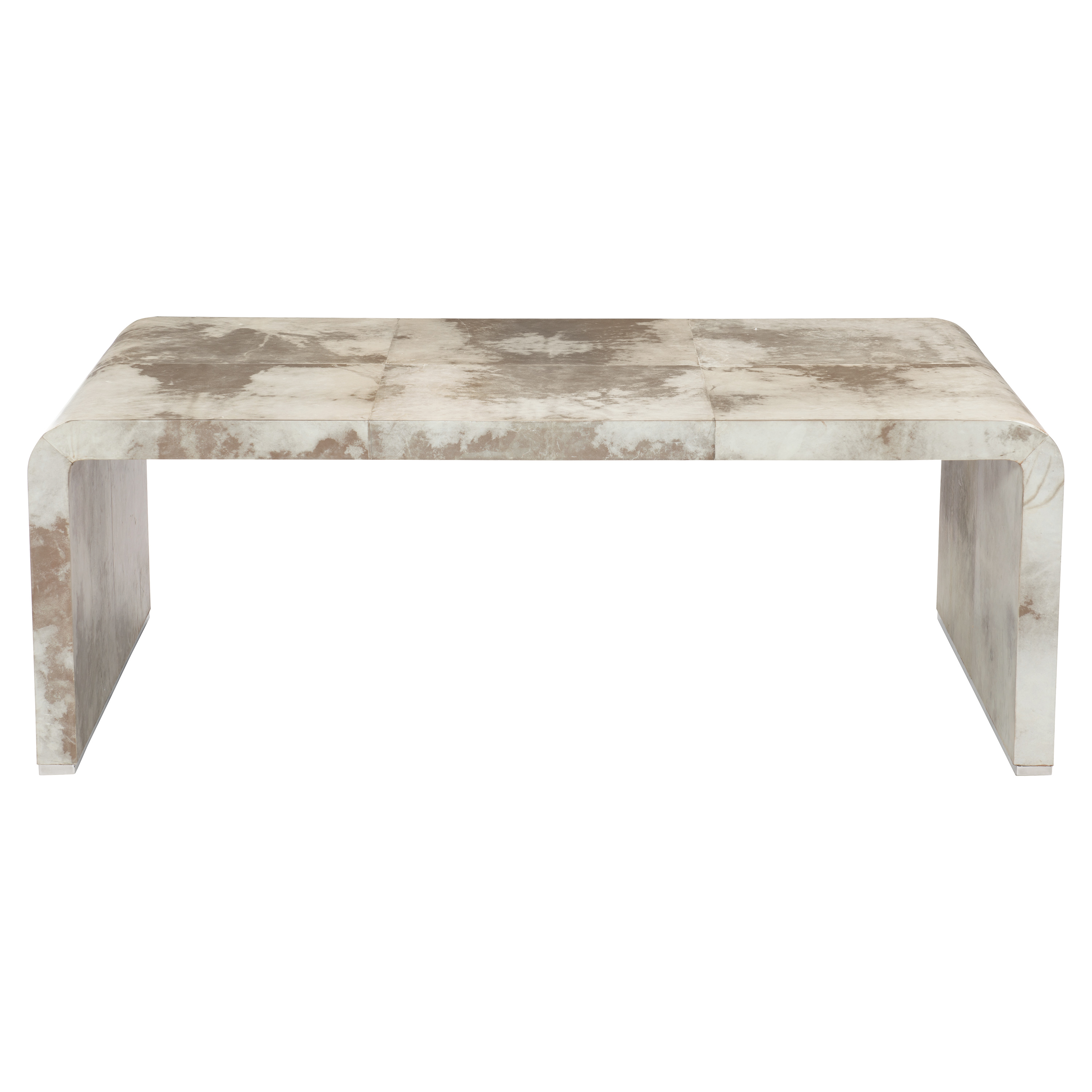 Karri Regency White Vellum Wrapped Brown Coffee Table