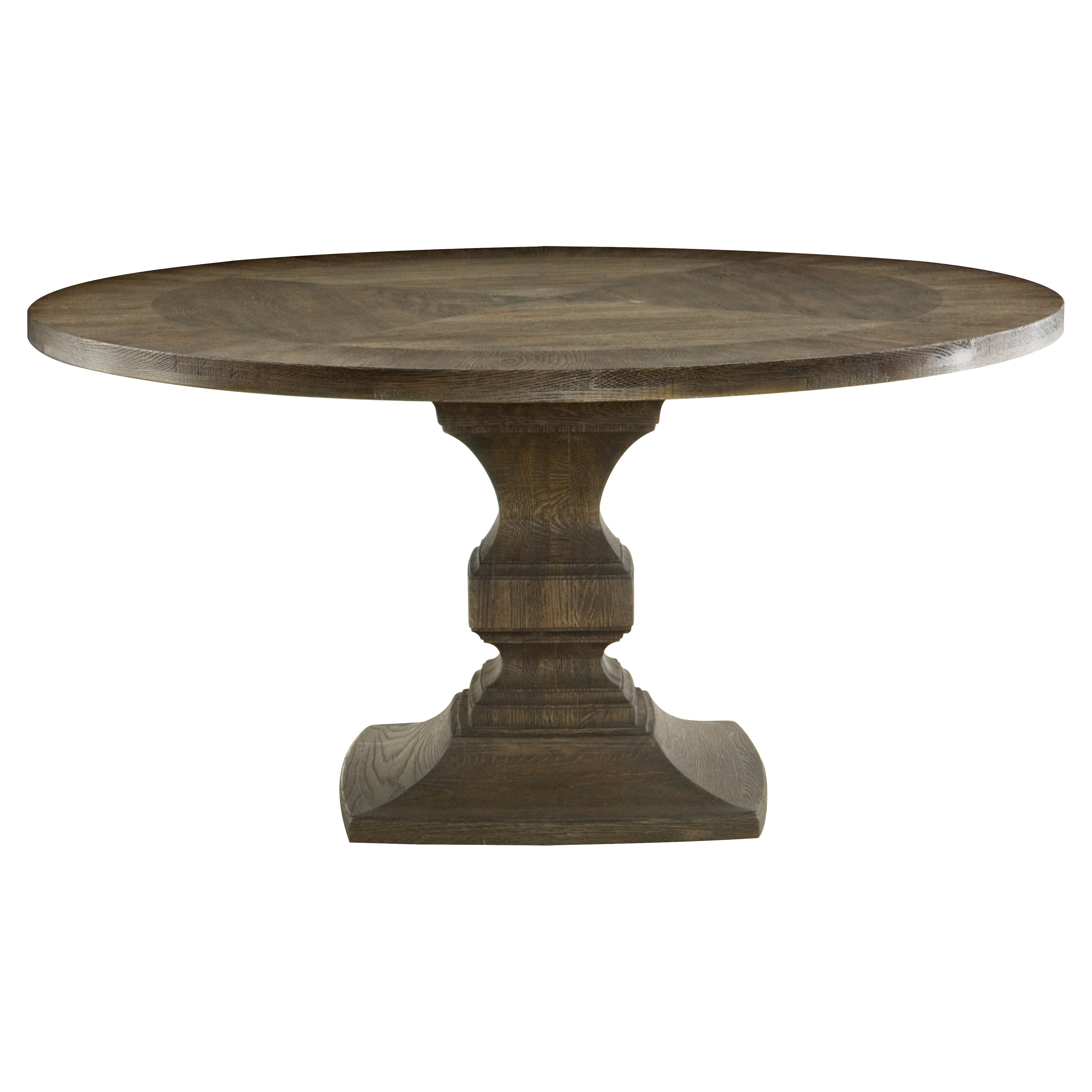 Arte Rustic Lodge Round Tobacco Oak Pedestal Dining Table