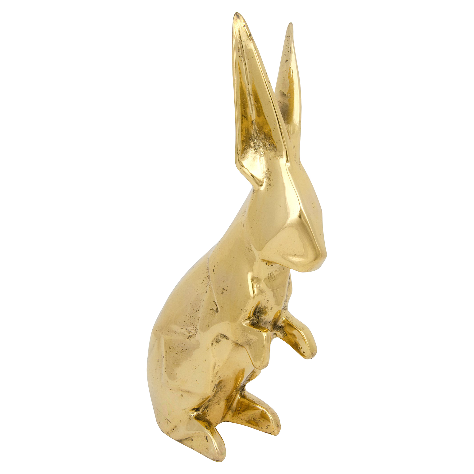 Bunny Rabbit Antique Brass Sculpture