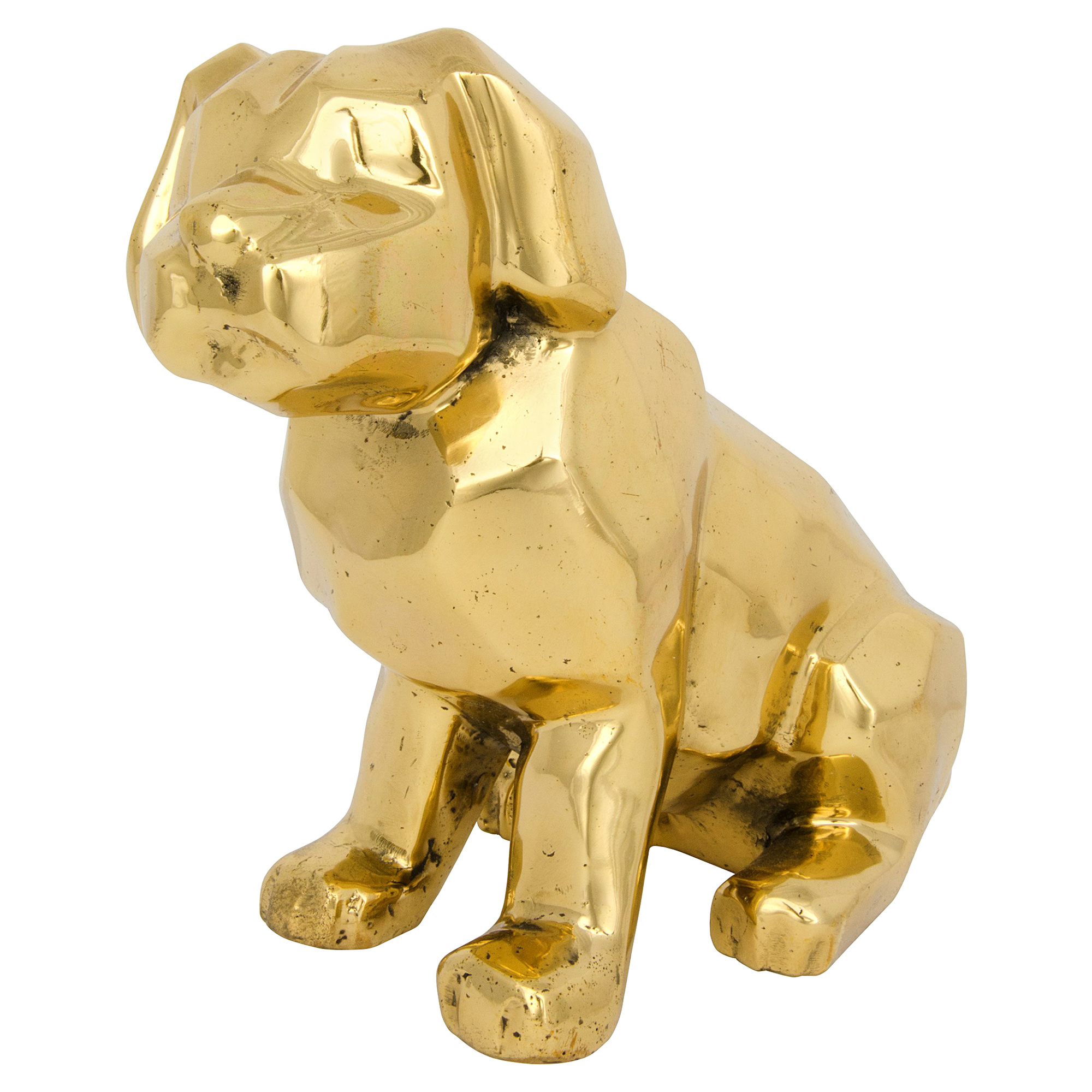 Puppy Dog Antique Brass Sculpture