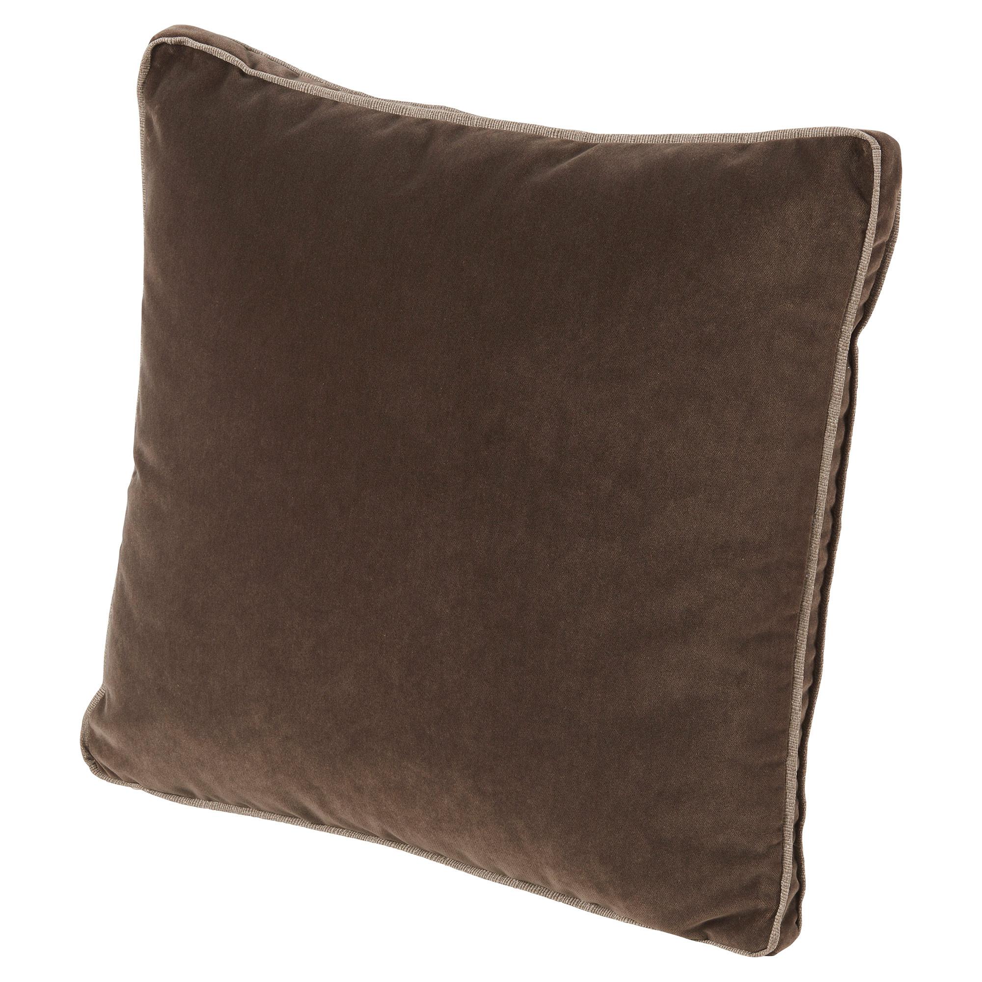 Tildy Classic Chocolate Brown Velvet Pillow - 22x22