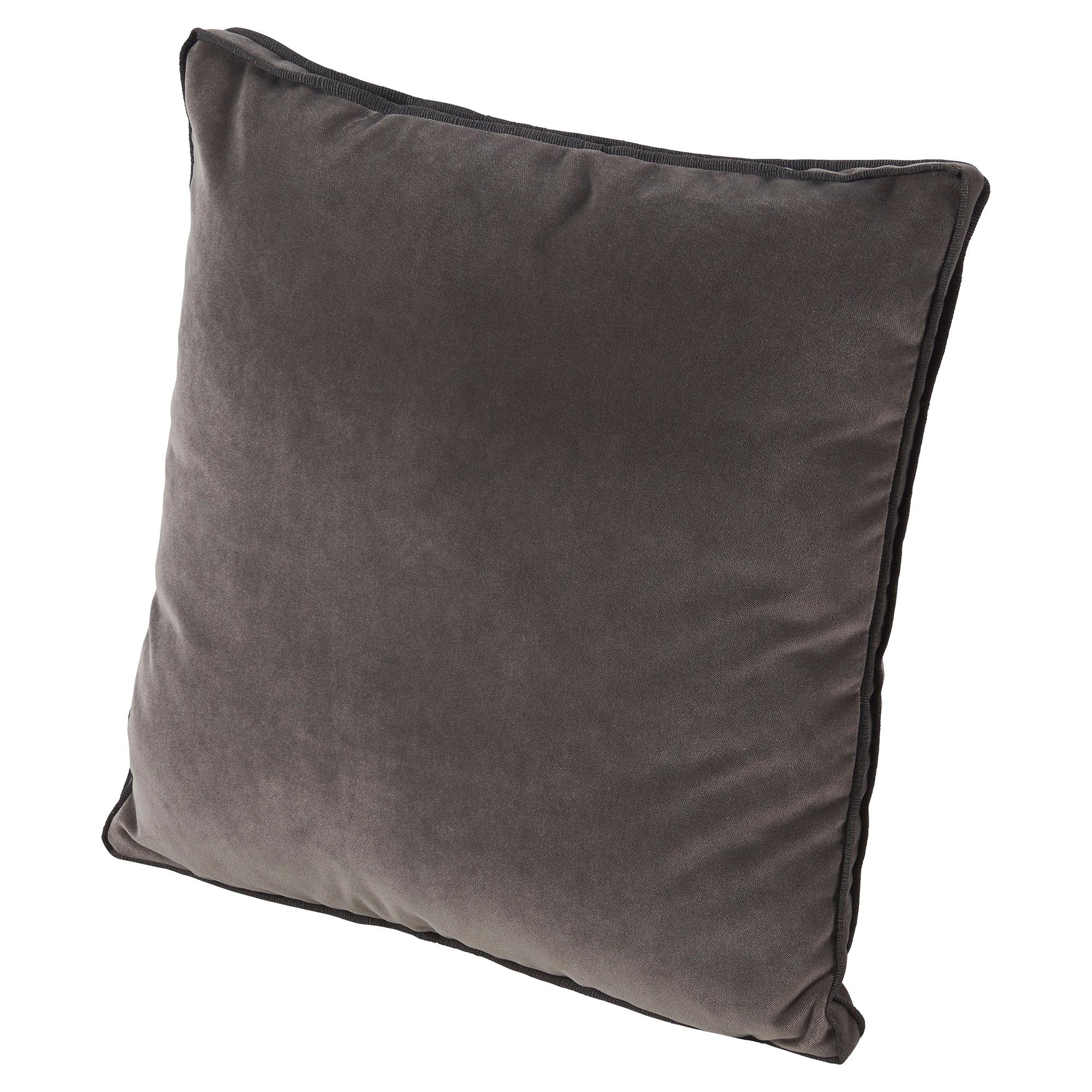 Tildy Classic Charcoal Grey Velvet Pillow - 22x22