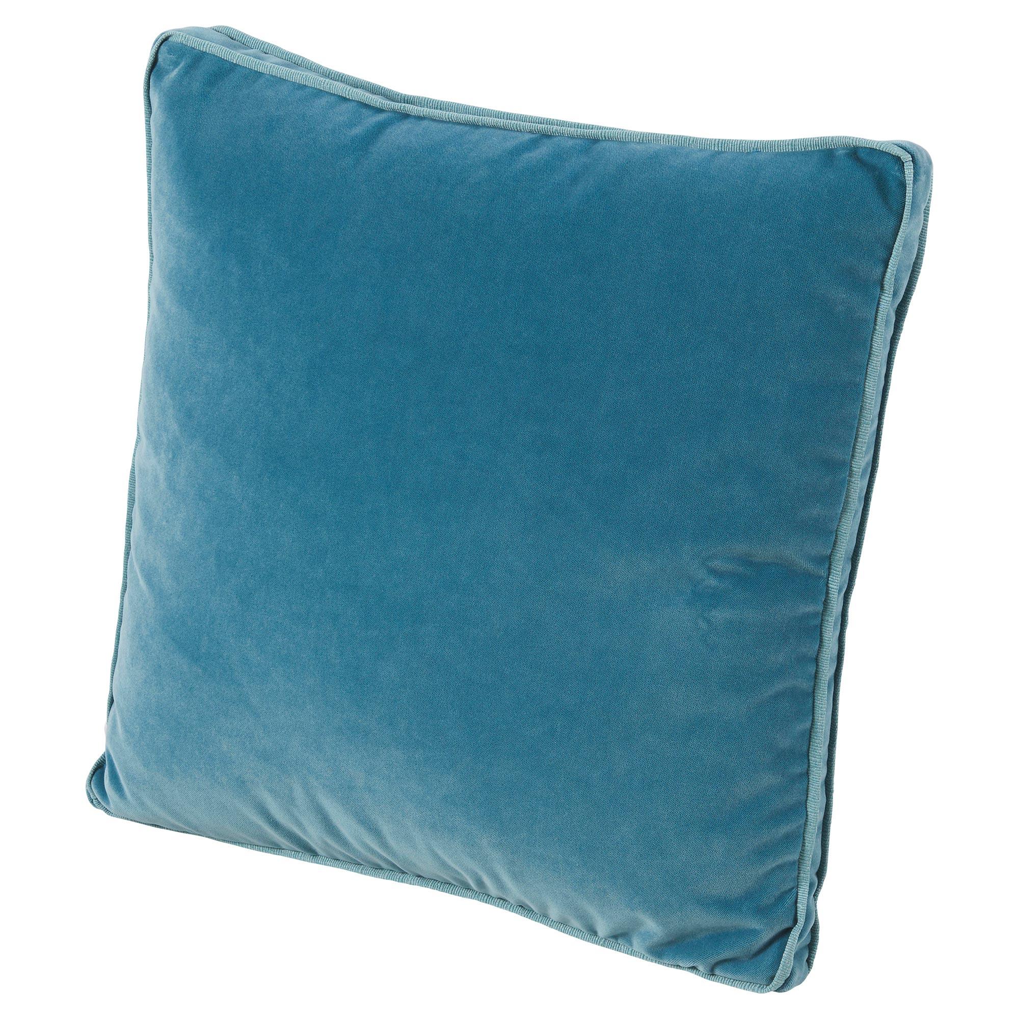 Tildy Classic Ocean Blue Velvet Pillow - 22x22