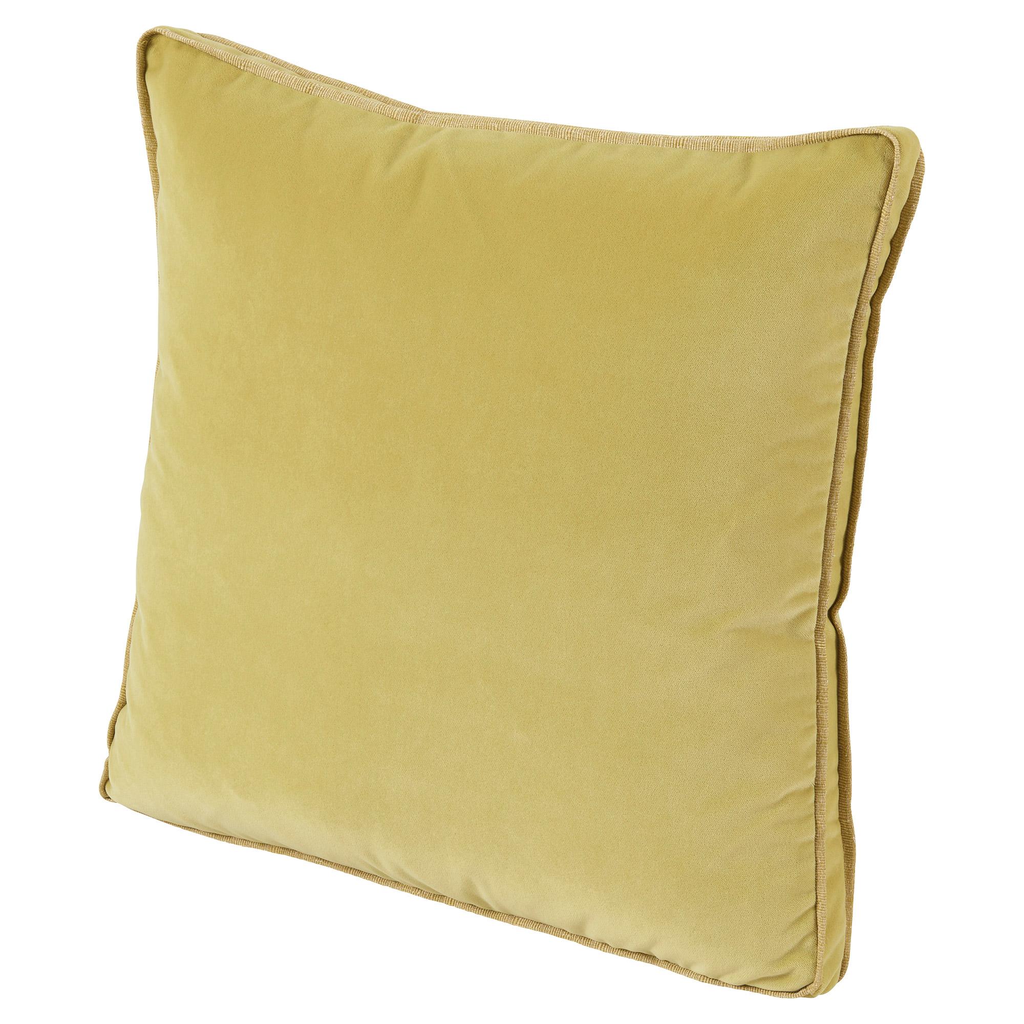 Tildy Classic Citrus Yellow Velvet Pillow - 22x22