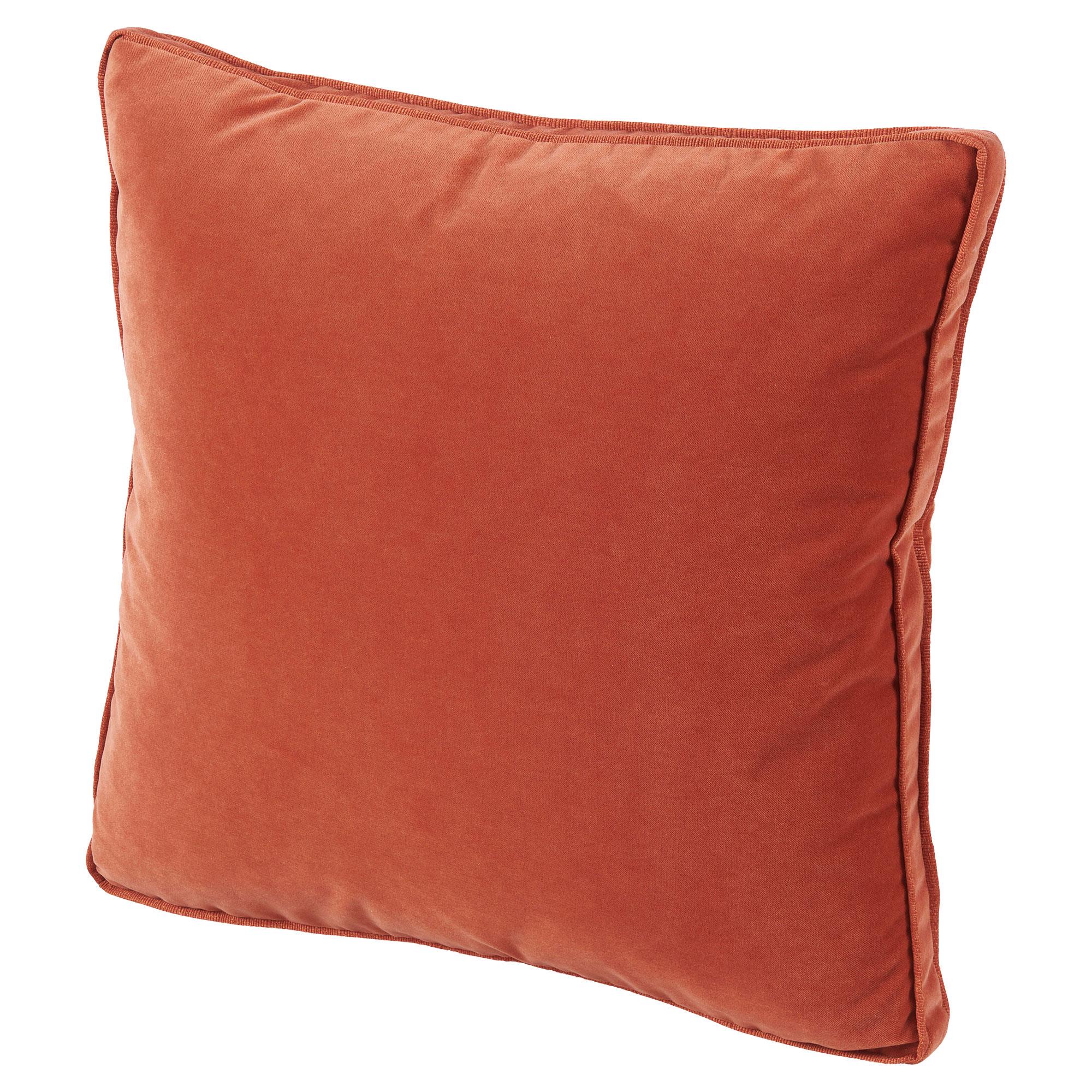 Tildy Classic Tangerine Orange Velvet Pillow - 22x22