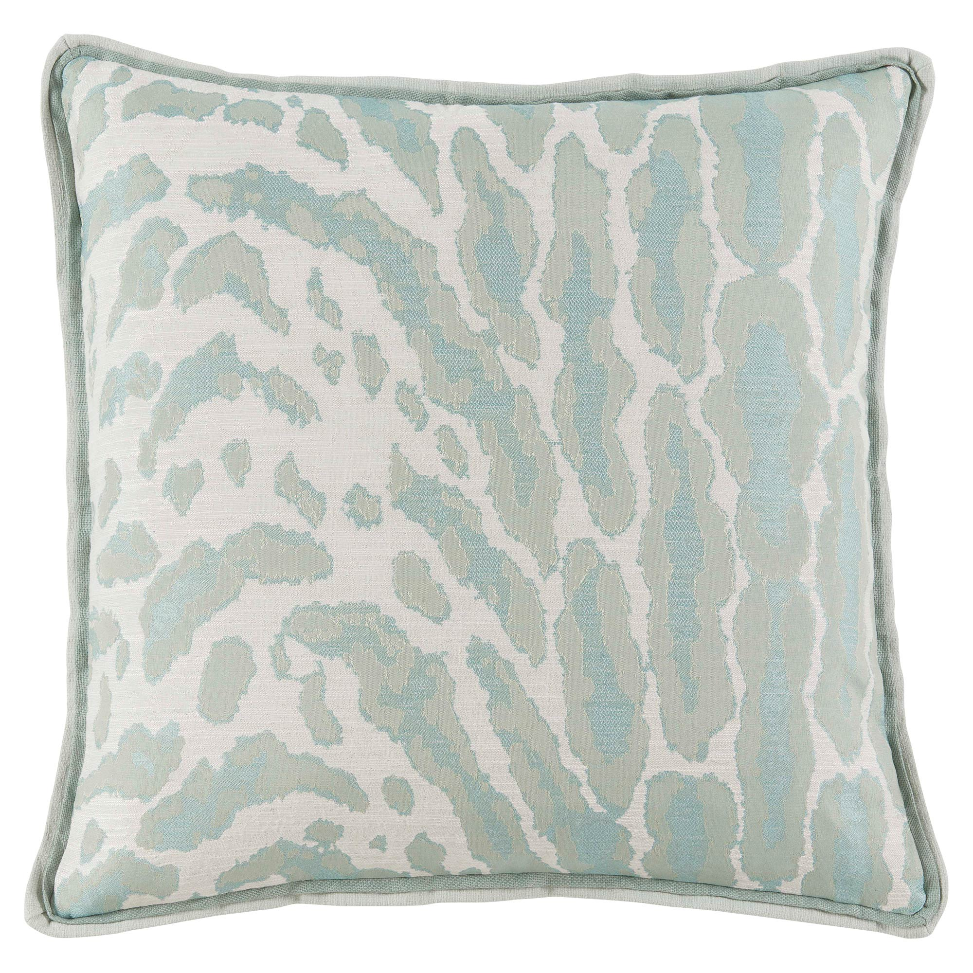 Teal Cheetah Global Bazaar Throw Pillow - 22x22