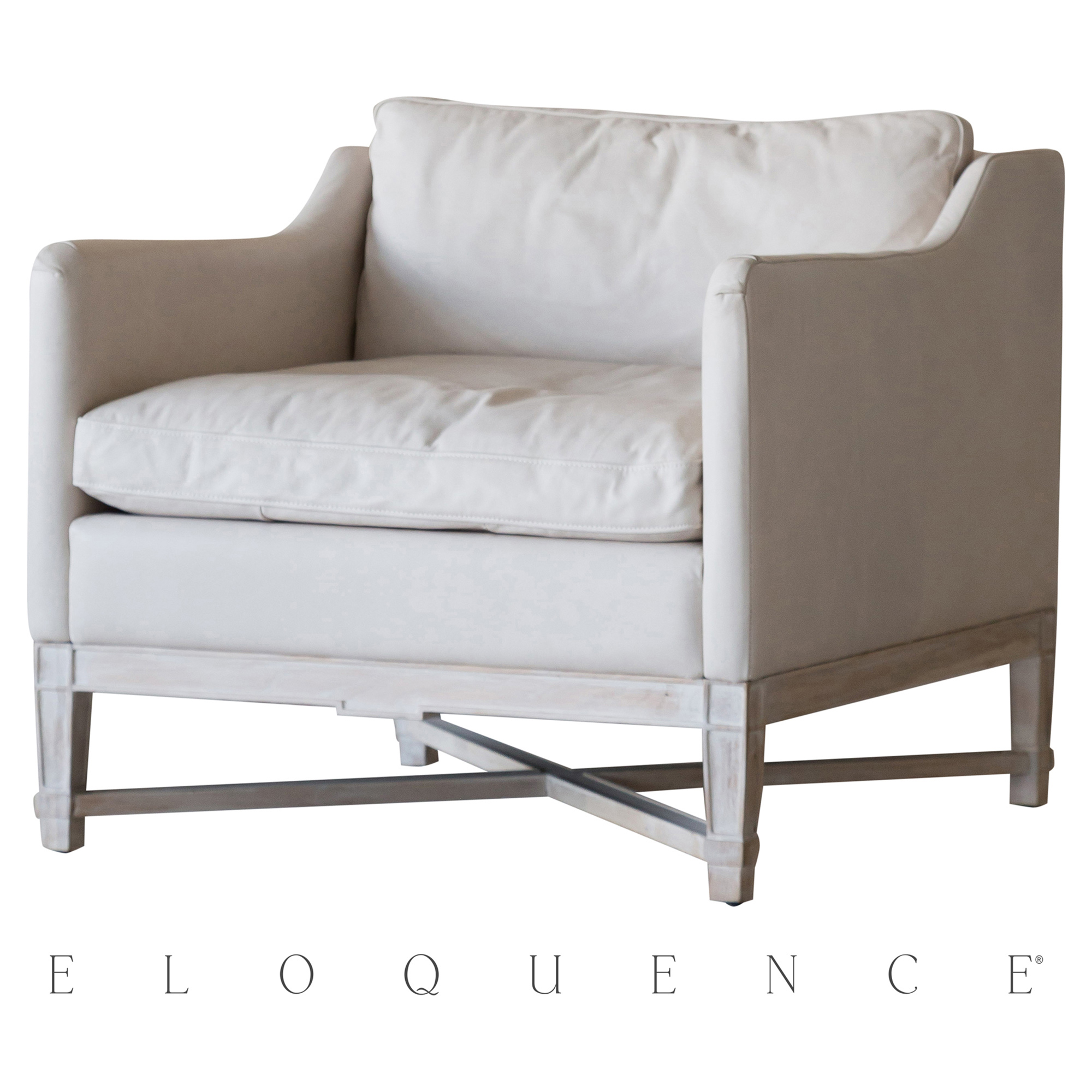 Eloquence® Scandinavian Bergere in Aged Beige Leather