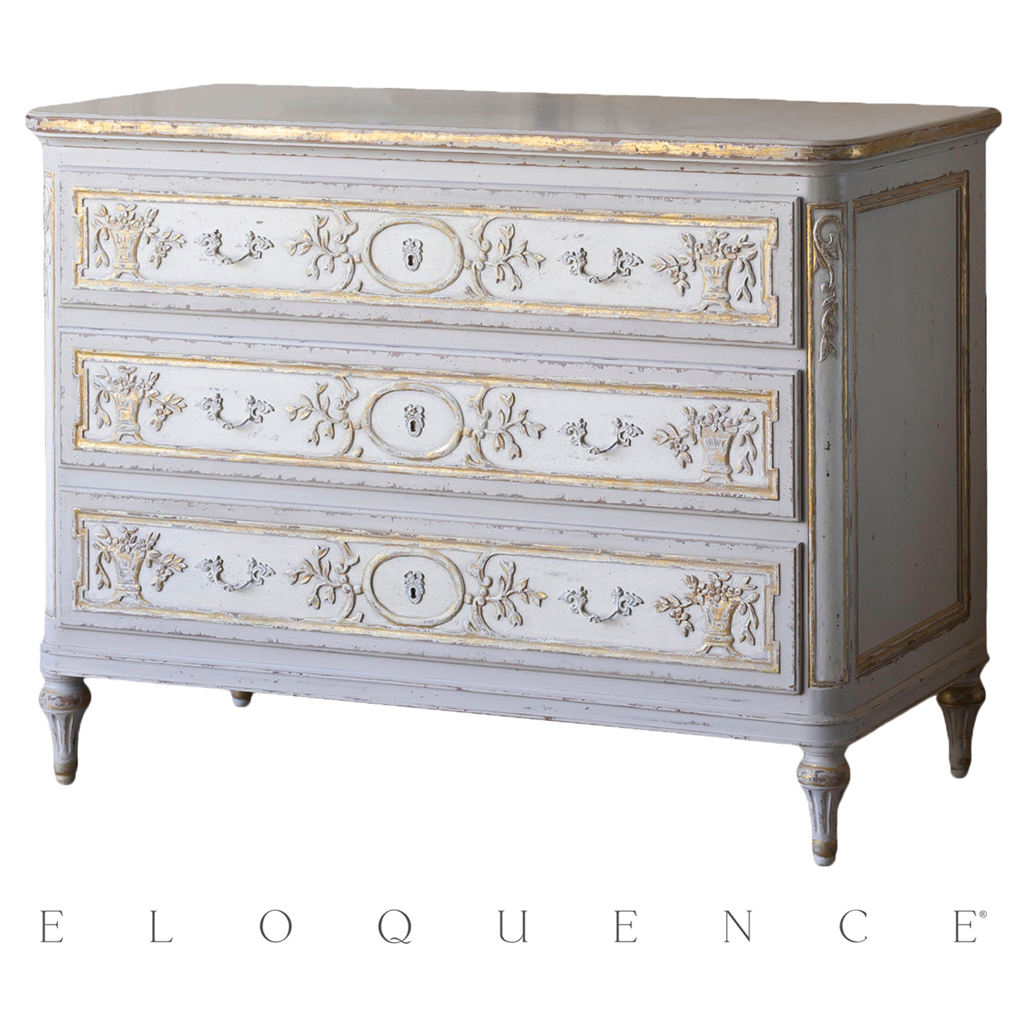 Eloquence® Bronte Commode in Fleur De Lis Gold Leaf
