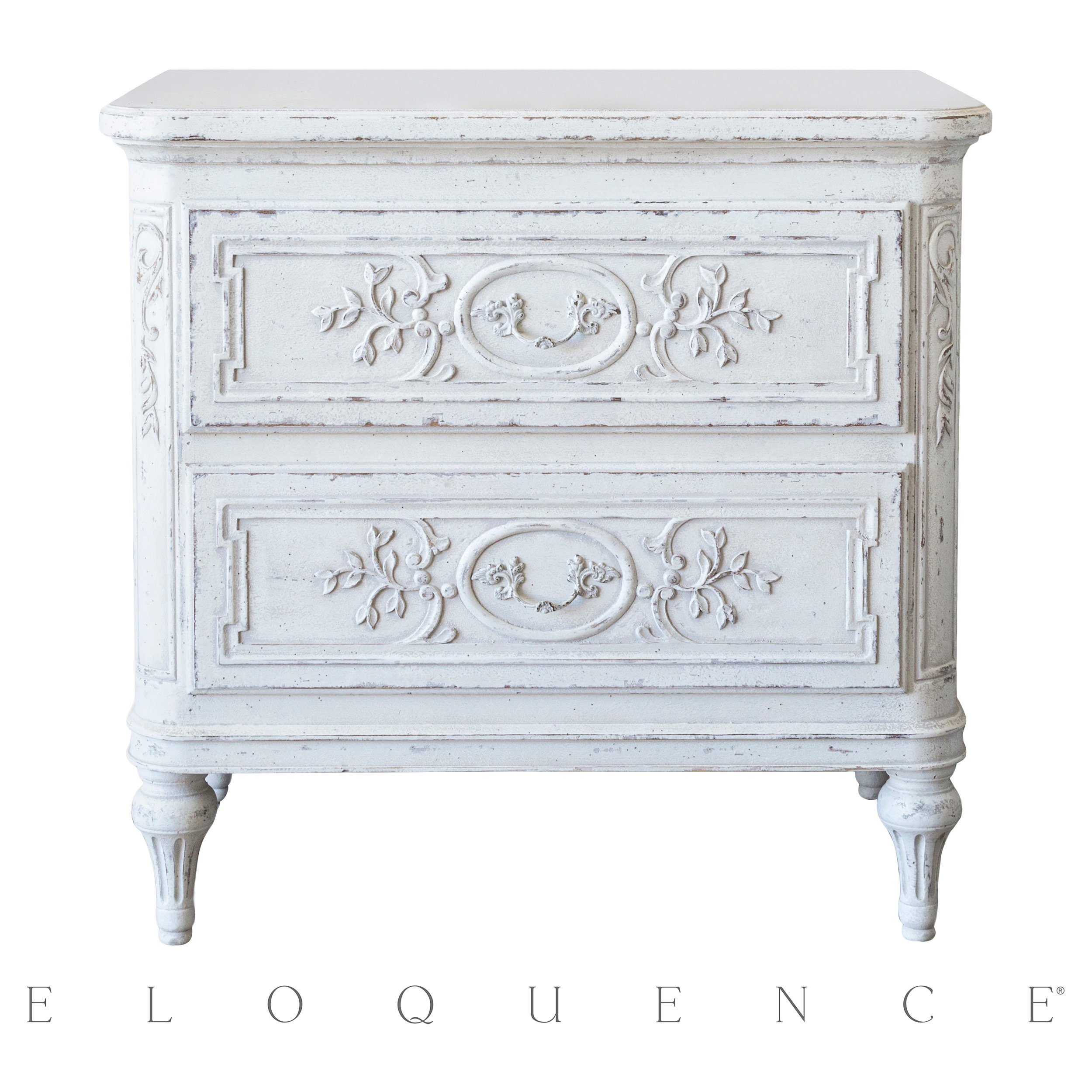 Eloquence® Bronte Nightstand in Weathered White