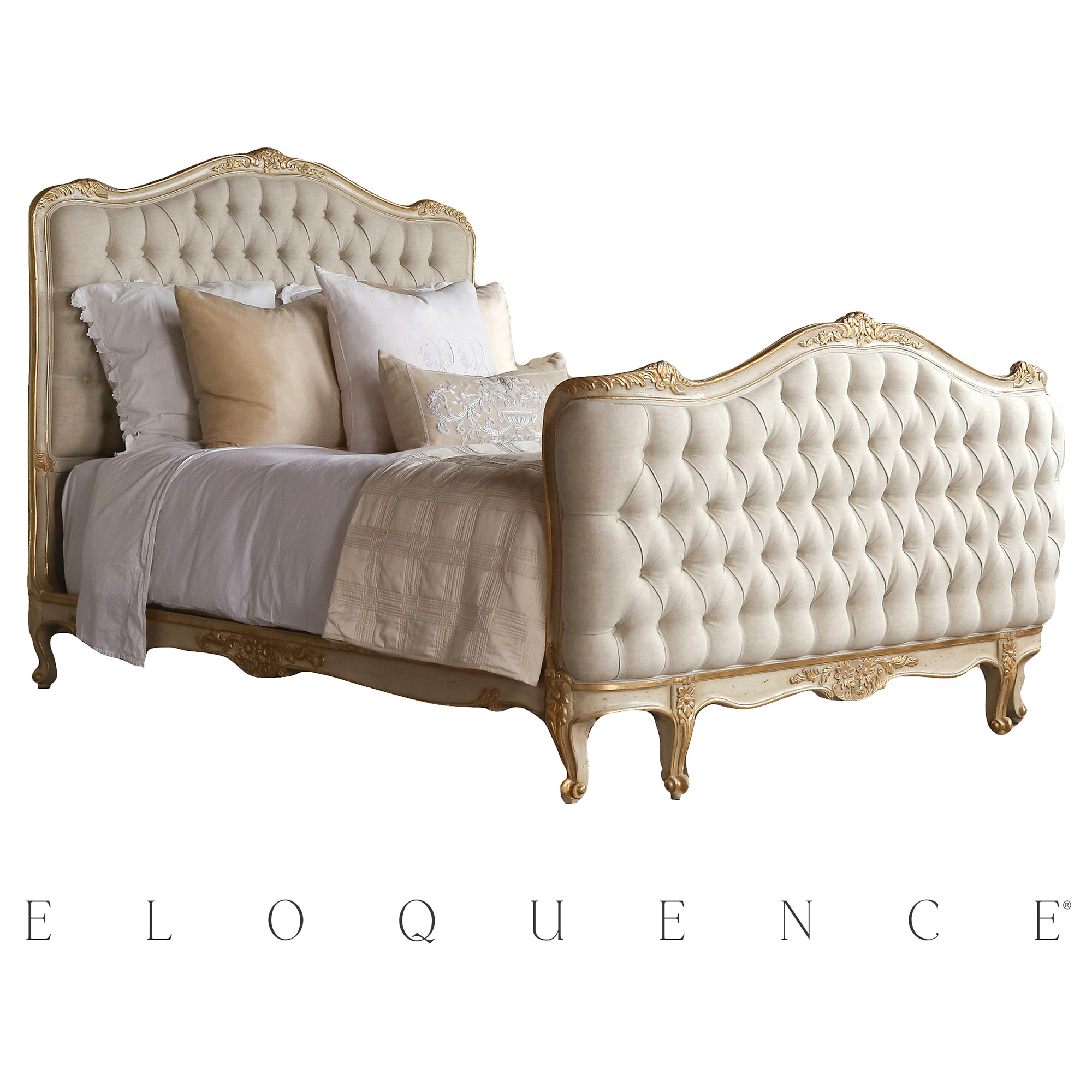 Eloquence® Sophia Gold Taupe Two Tone King Bed