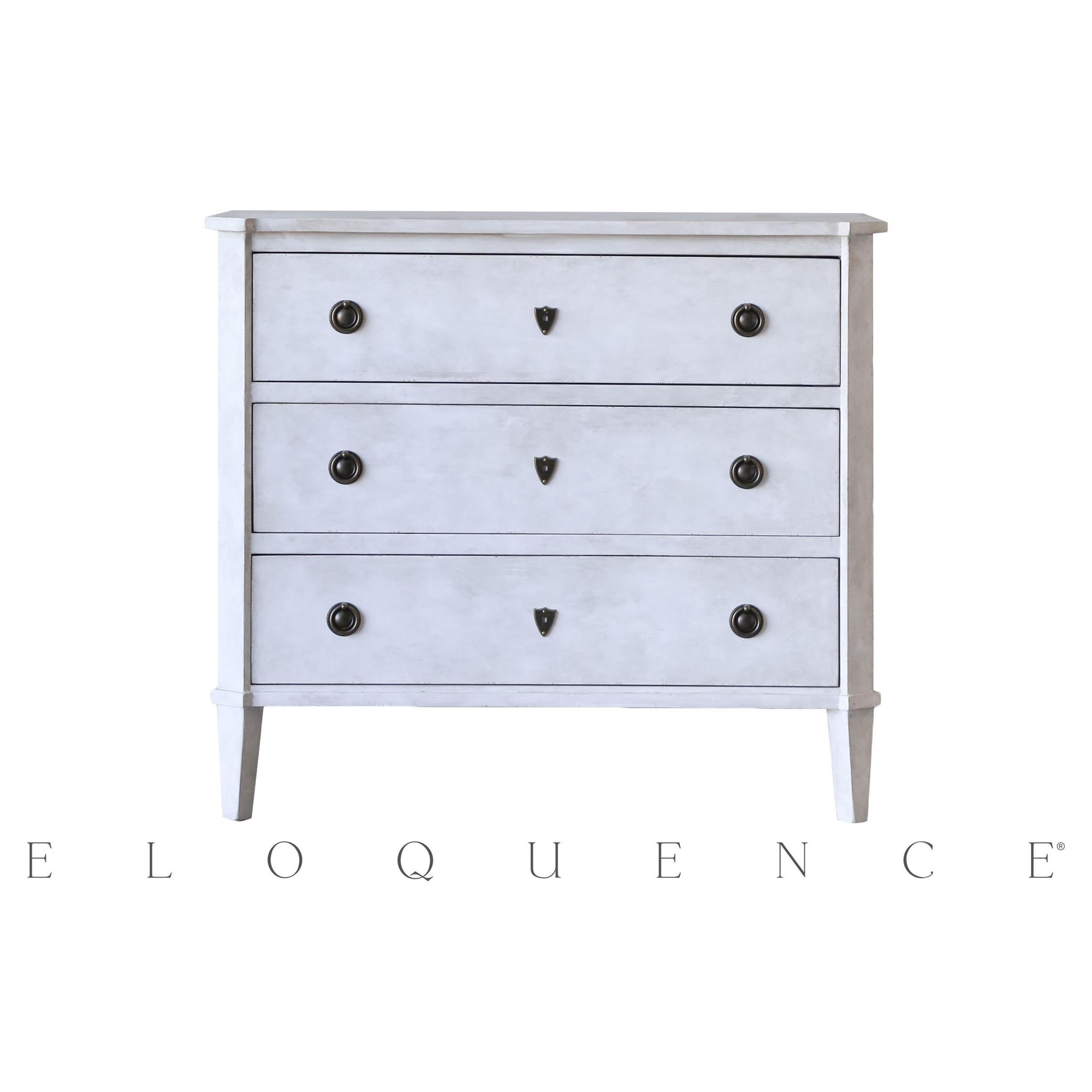 Eloquence® Fleur de Sel White Nicolas Commode Dresser