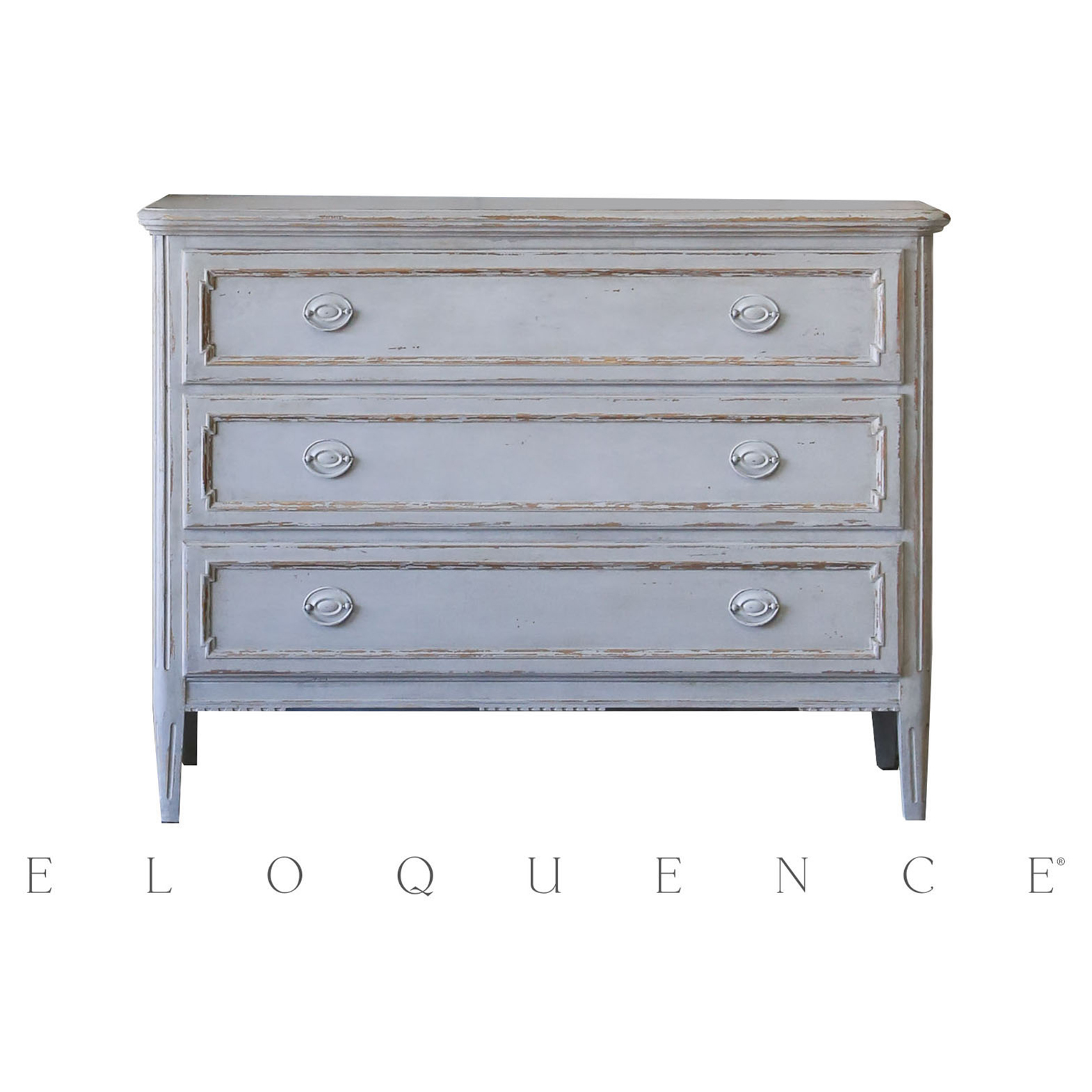 Eloquence® Louis Charles Gustavian Grey Commode