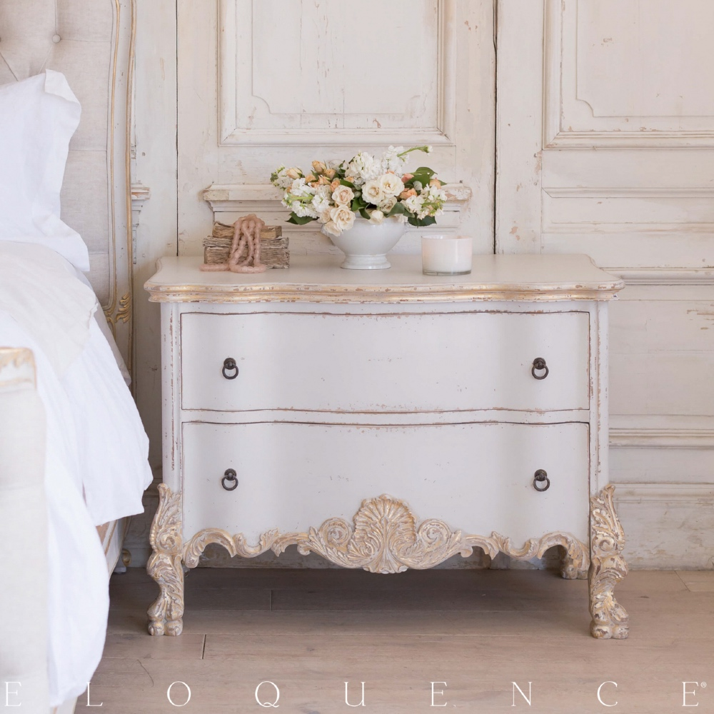 Eloquence® Roma Gold Taupe Two Tone Commode
