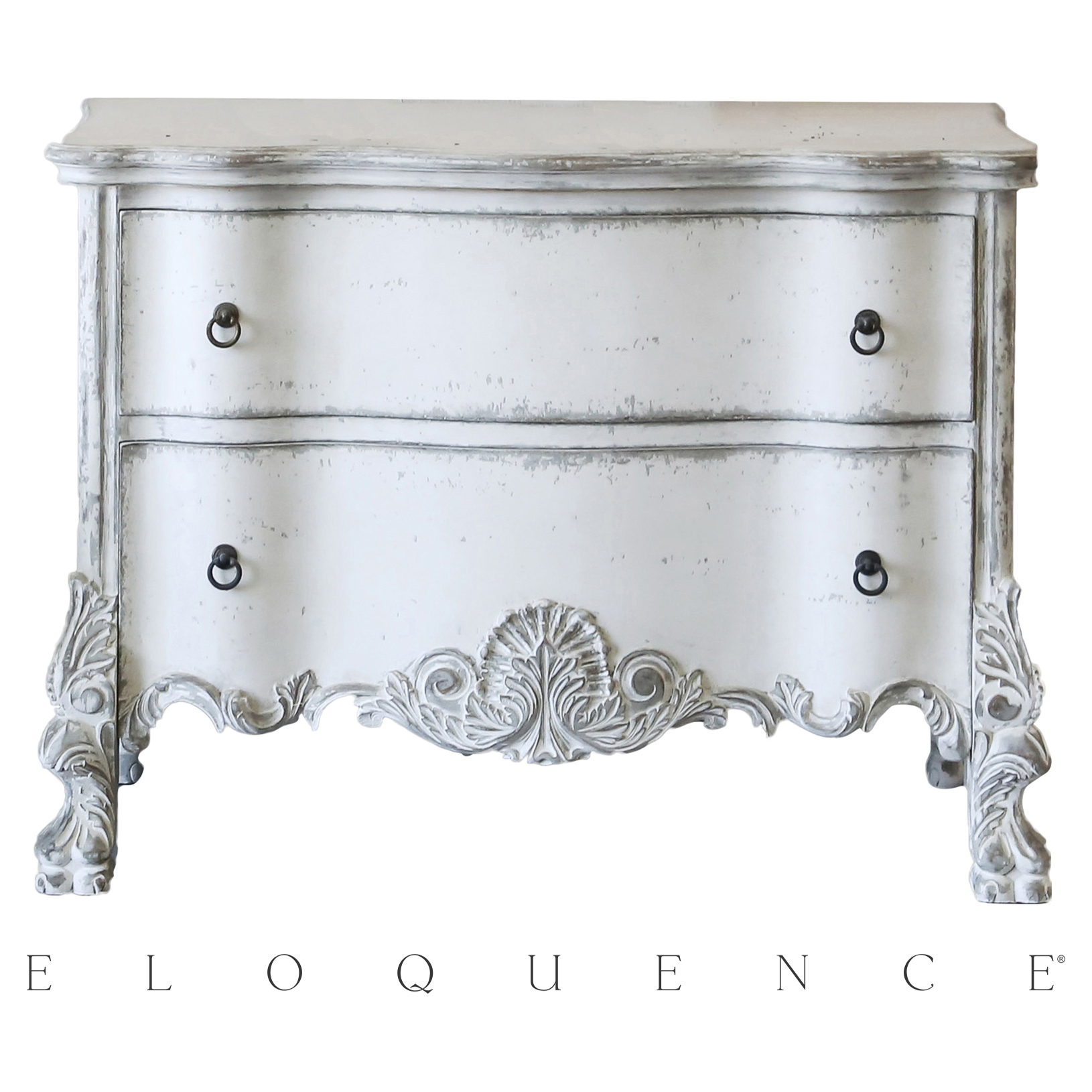 Eloquence® Roma Stone Grey White Commode