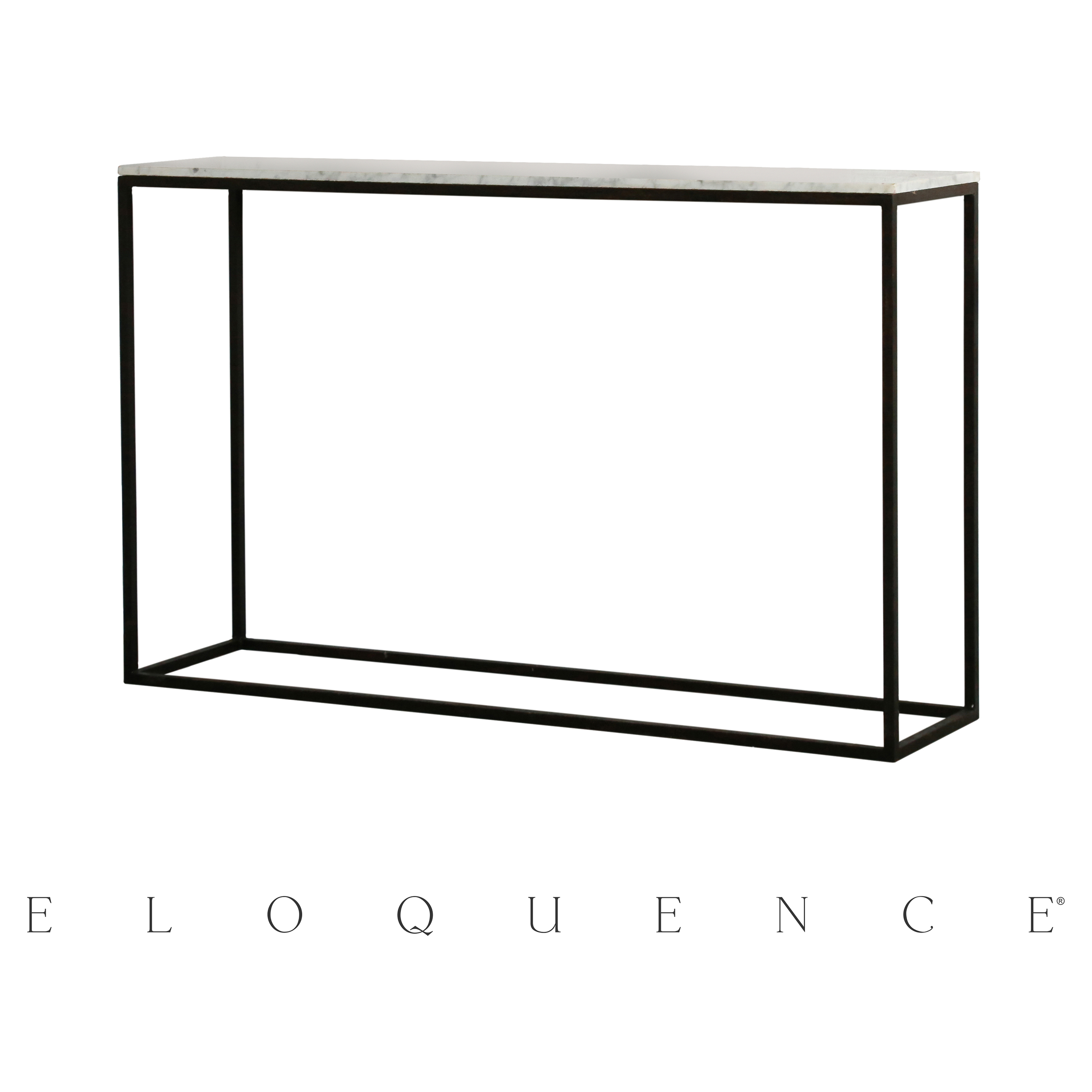 Eloquence® Fredrik Burnt Steel Console Table