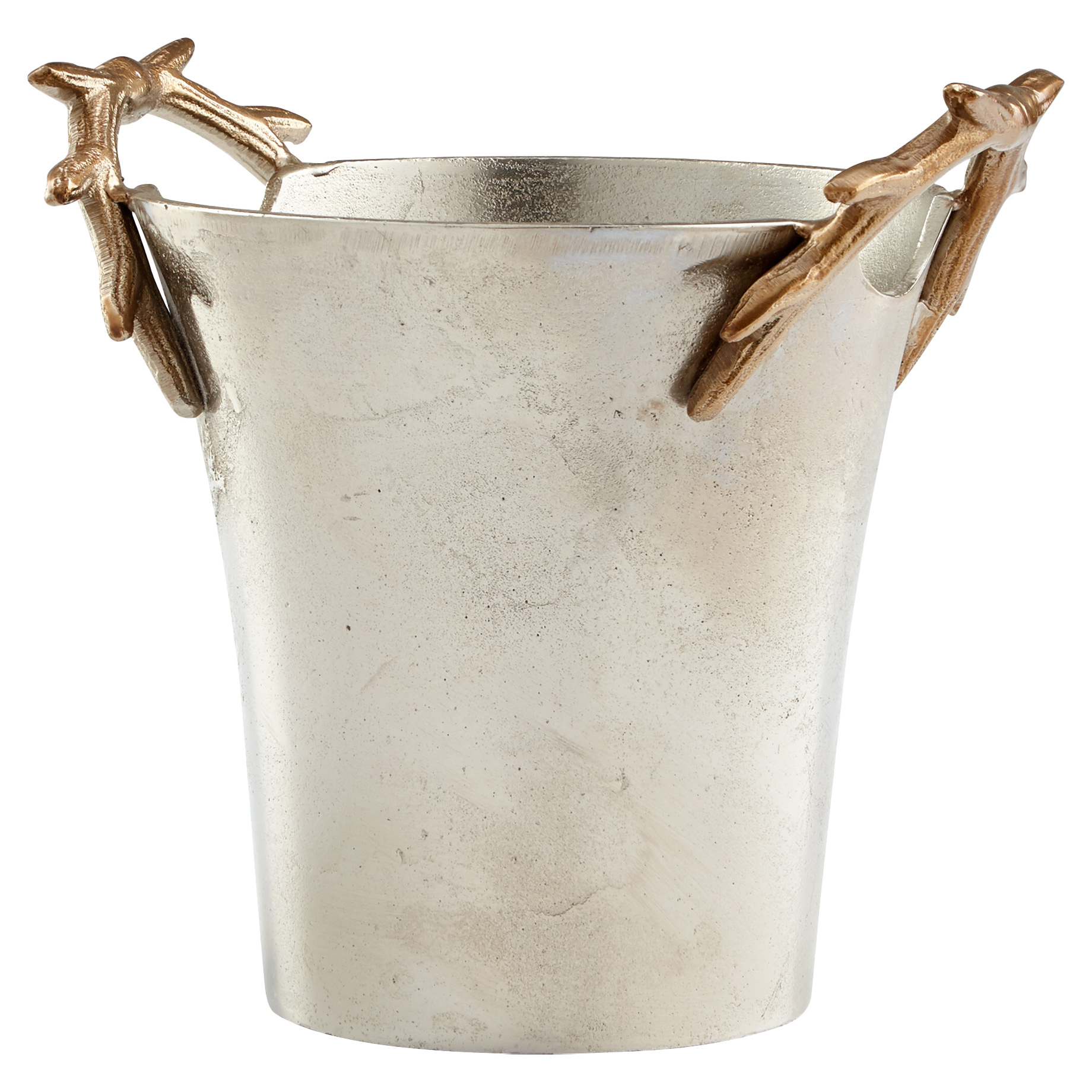 Gold Antler Rustic Lodge Pewter Silver Ice Bucket